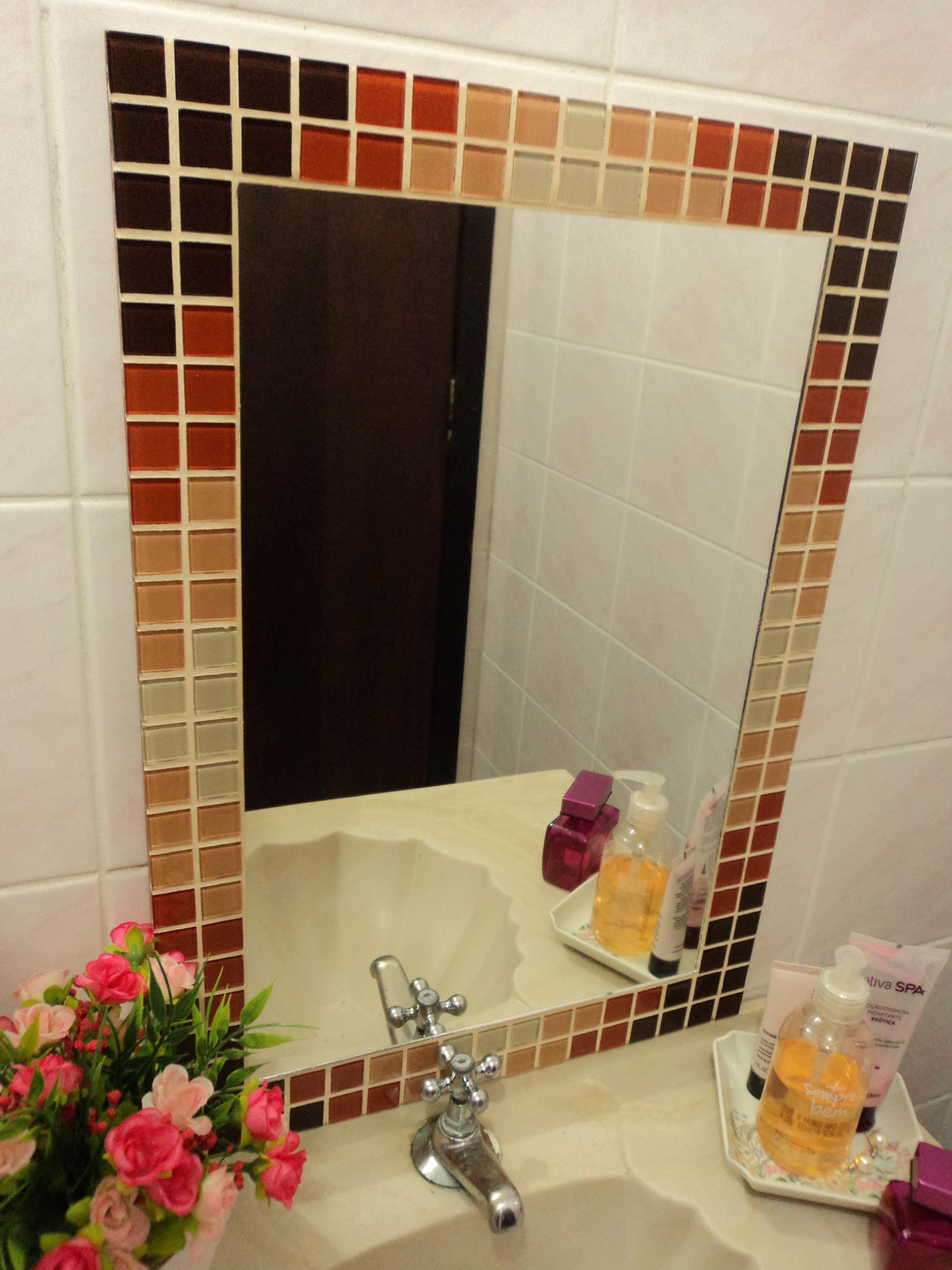 Pin Moldura Para Espelho Dourada On Pinterest  Jongose Ninja -> Banheiro Com Pastilha Em Volta Do Espelho