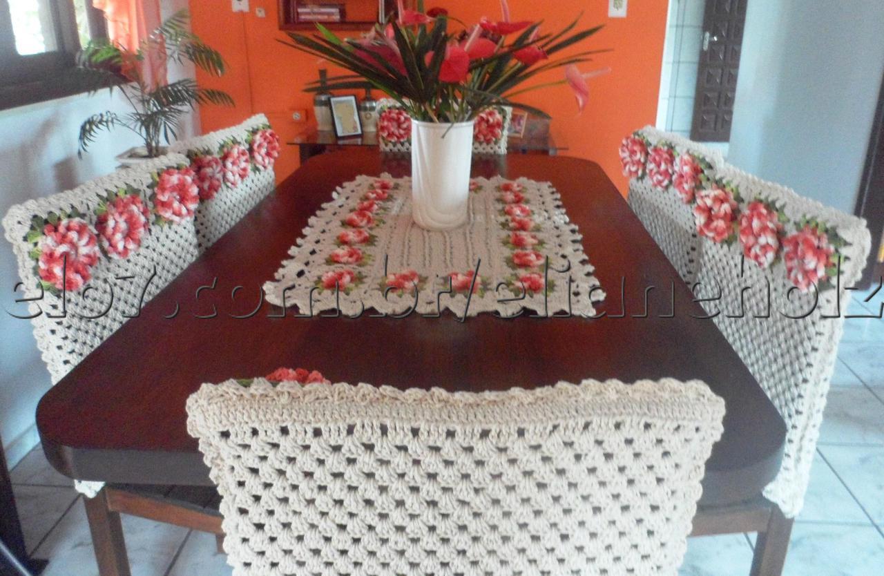 capa de cadeira de croche sala de jantar capa de cadeira de croche  #A94322 1280x834