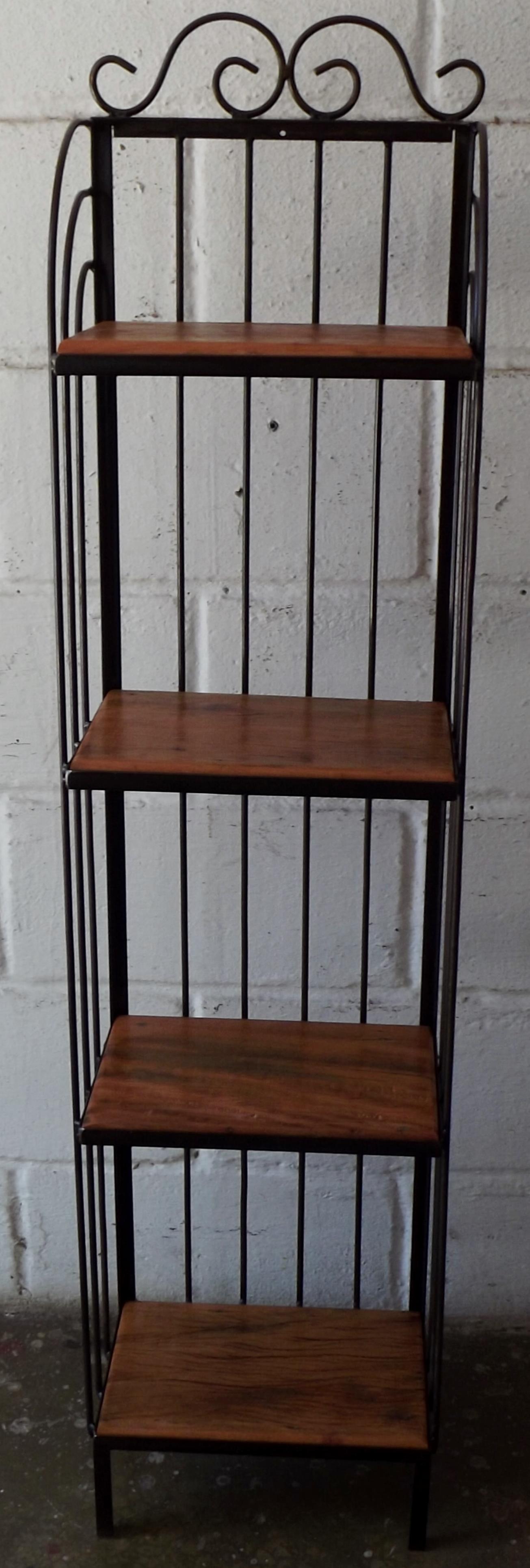 prateleira madeira de demolicao e ferro porta prateleira madeira de  #633C2E 1305x3860