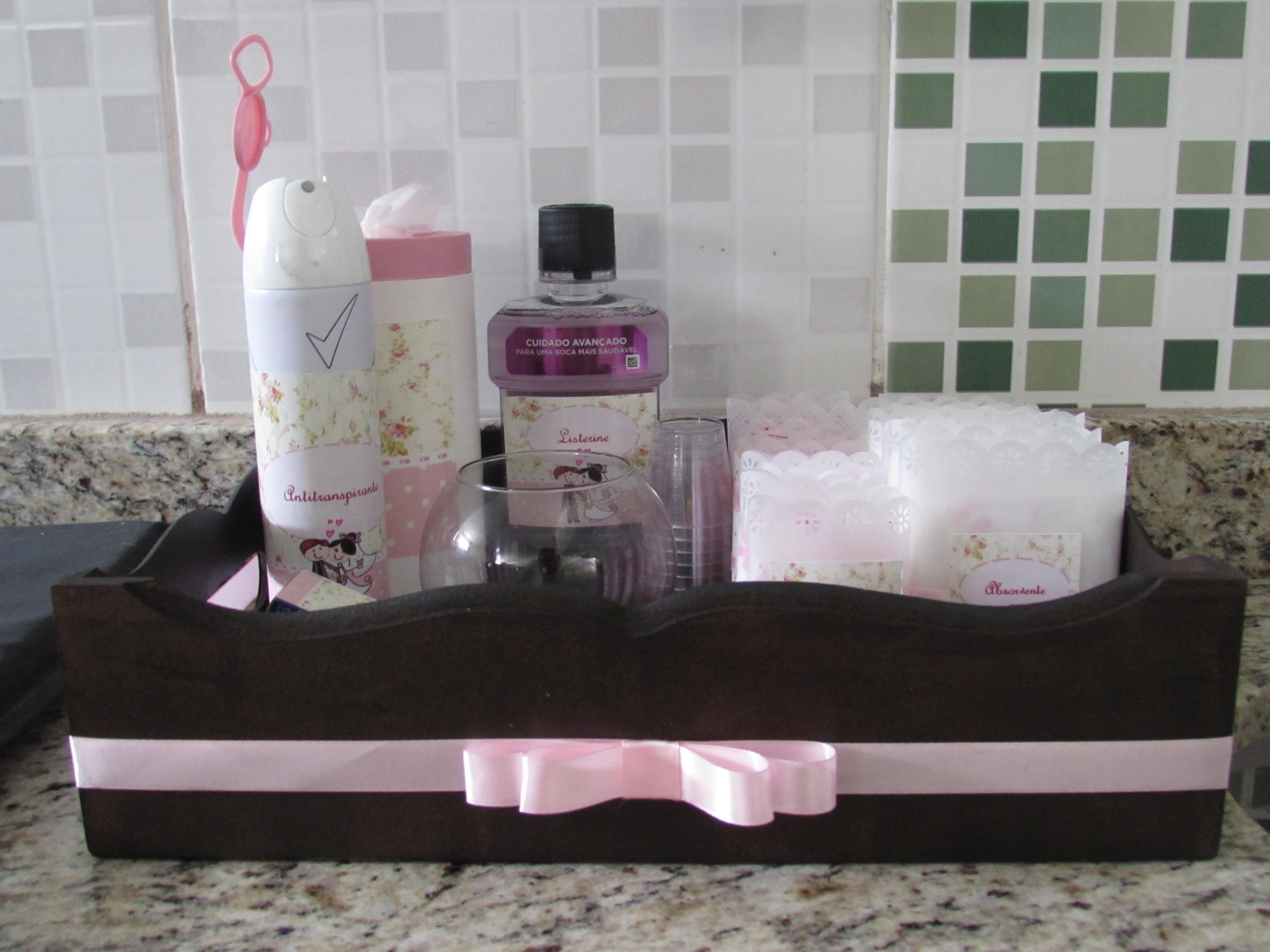 Kit toalete para banheiro feminino  amopontorusso  Elo7 # Kit Banheiro Feminino