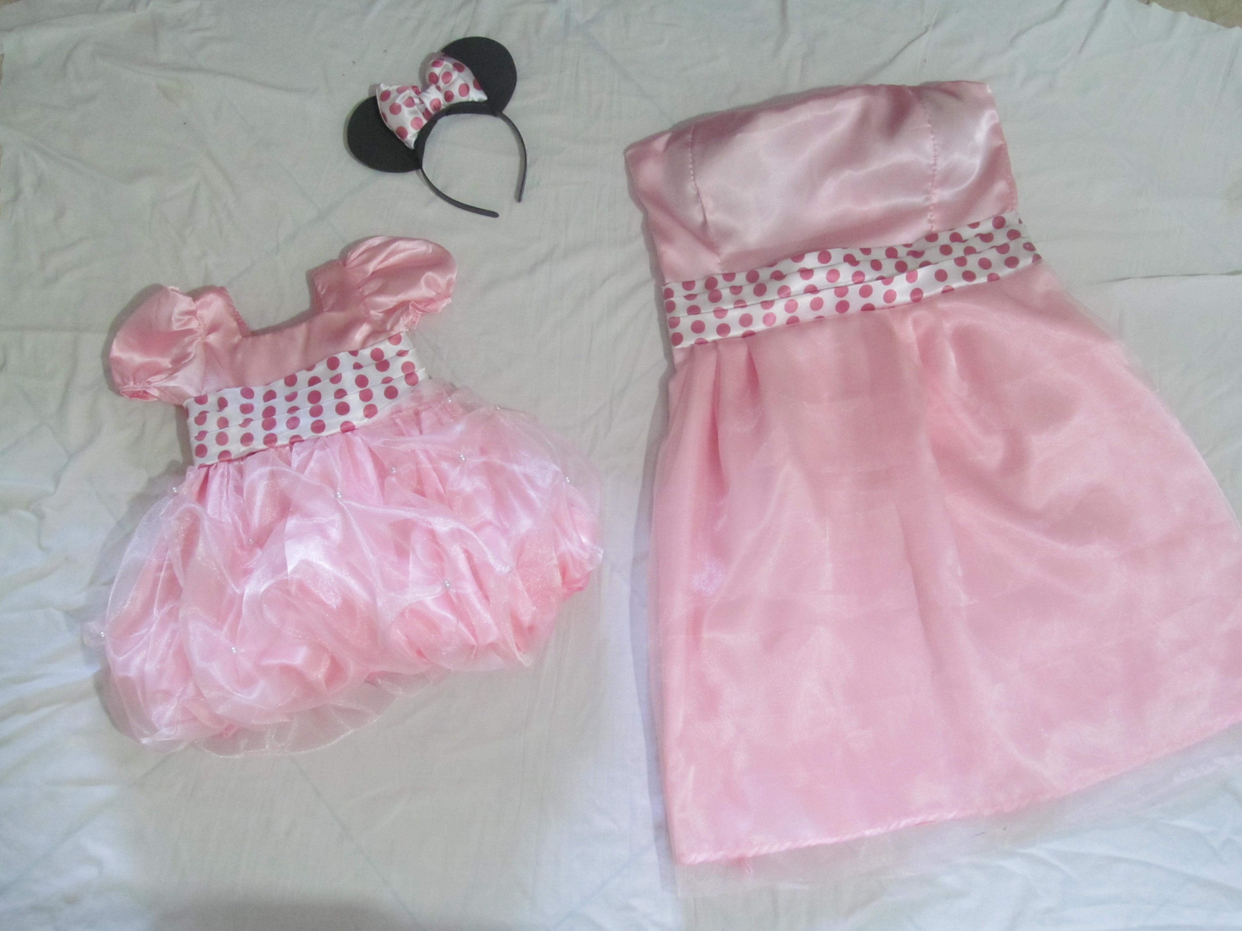 ... rosa mae e filha vestido mae e filha da minnie rosa festa vestido mae