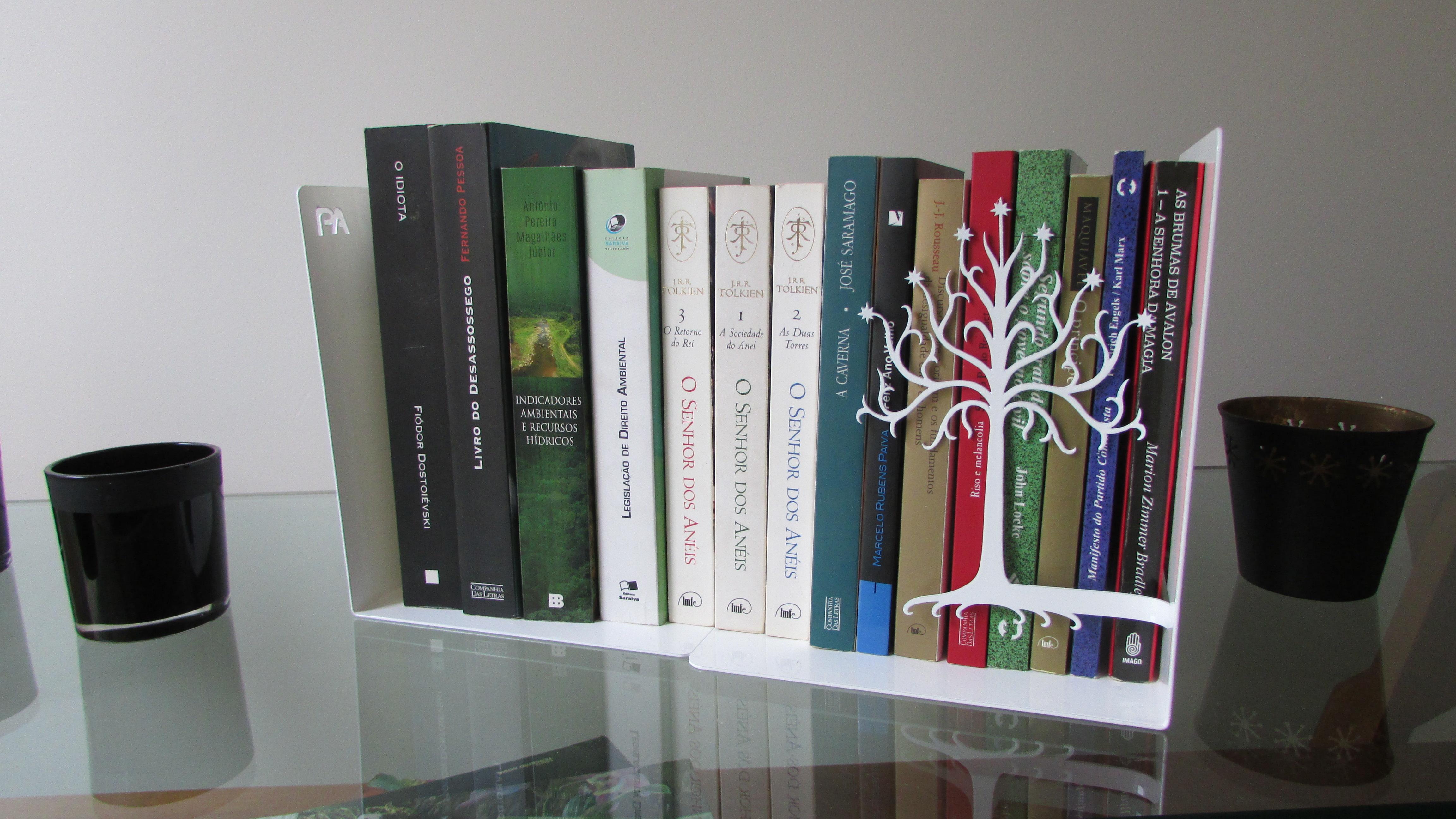 """Adesivo Boteco Preto E Branco ~ Aparador de Livro""""Árvore de Gondor2"""",Aço PeculiArtes Elo7"""