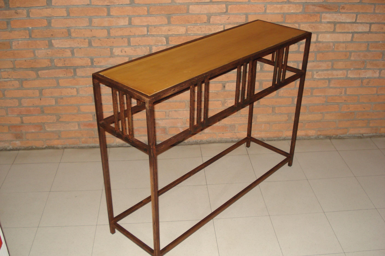 aparador em ferro e madeira ou vidro aparador em ferro #6B3F24 2816x1872