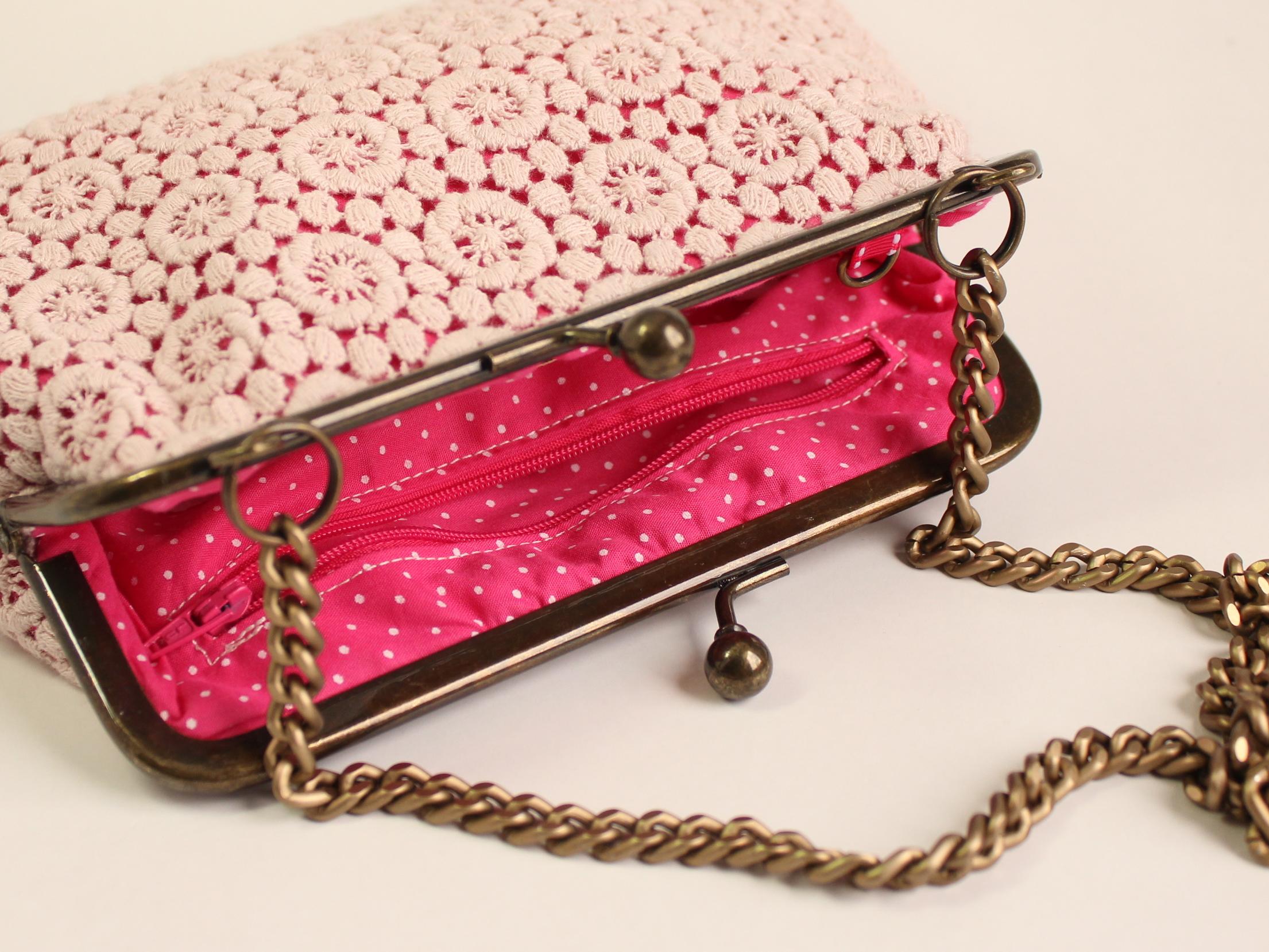 Bolsa De Tecido Com Renda : Bolsa retr? da vov? renda rosa pink modos de mocinha