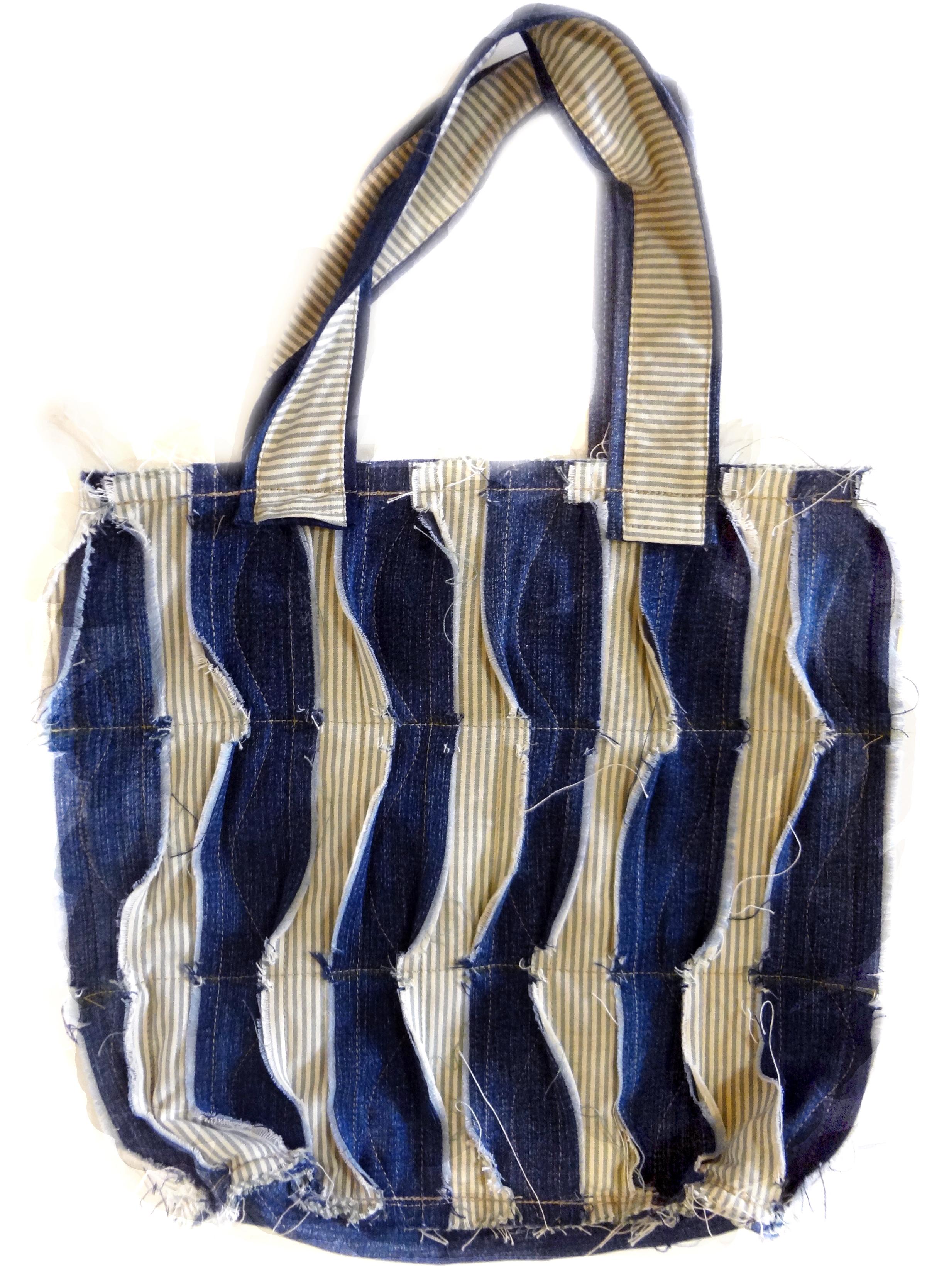 Bolsa De Tecido E Jeans : Bolsa com retalhos de tecido e jeans elizabeth elo