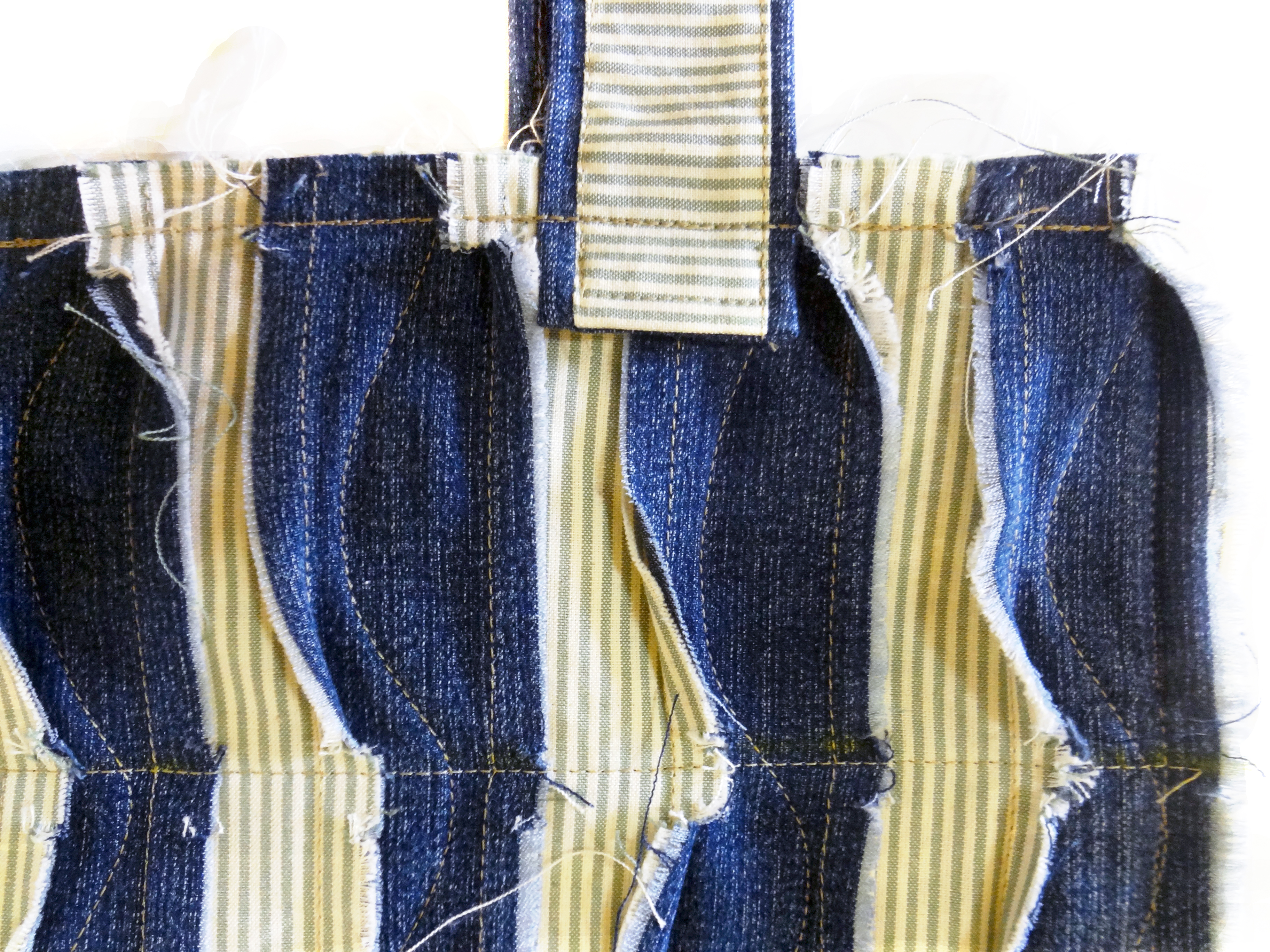Bolsa De Tecido Jeans Passo A Passo : Bolsa com retalhos de tecido e jeans elizabeth elo