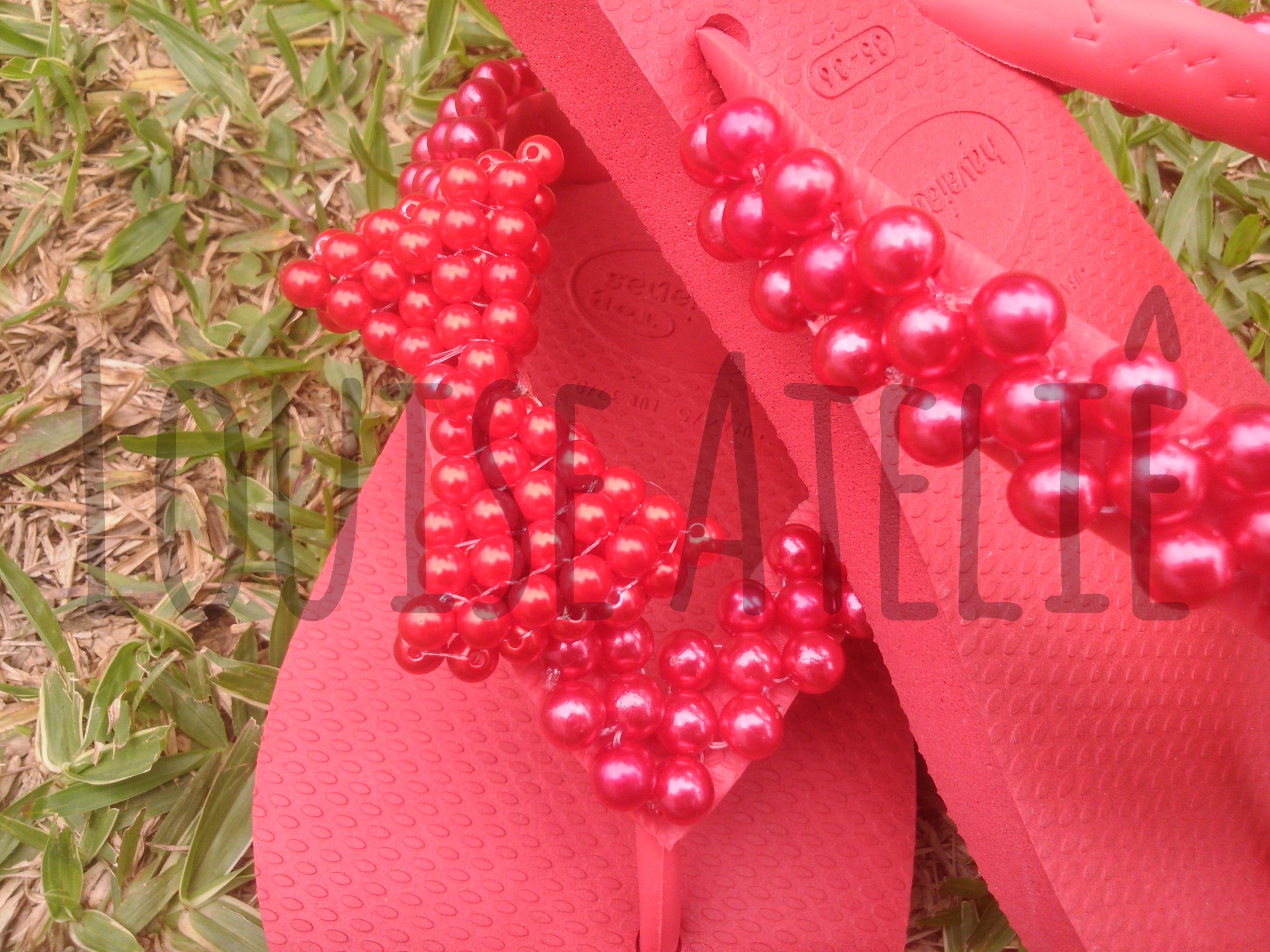 de perola com laco havaianas decoradas chinelo de perola com laco luxo