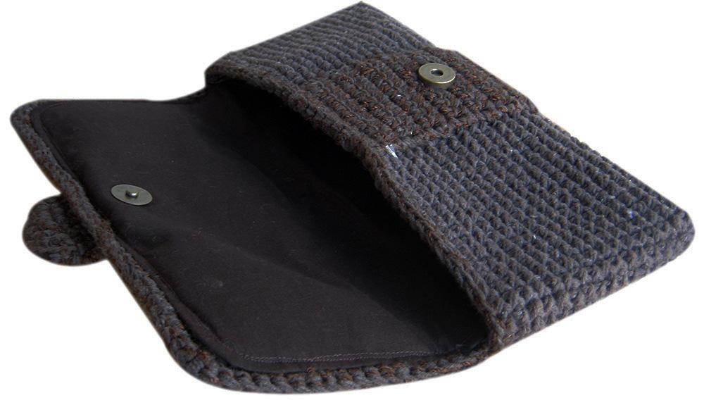 Bolsa De Mao Em Croche : Bolsa carteira de m?o festa em croch? artestore e