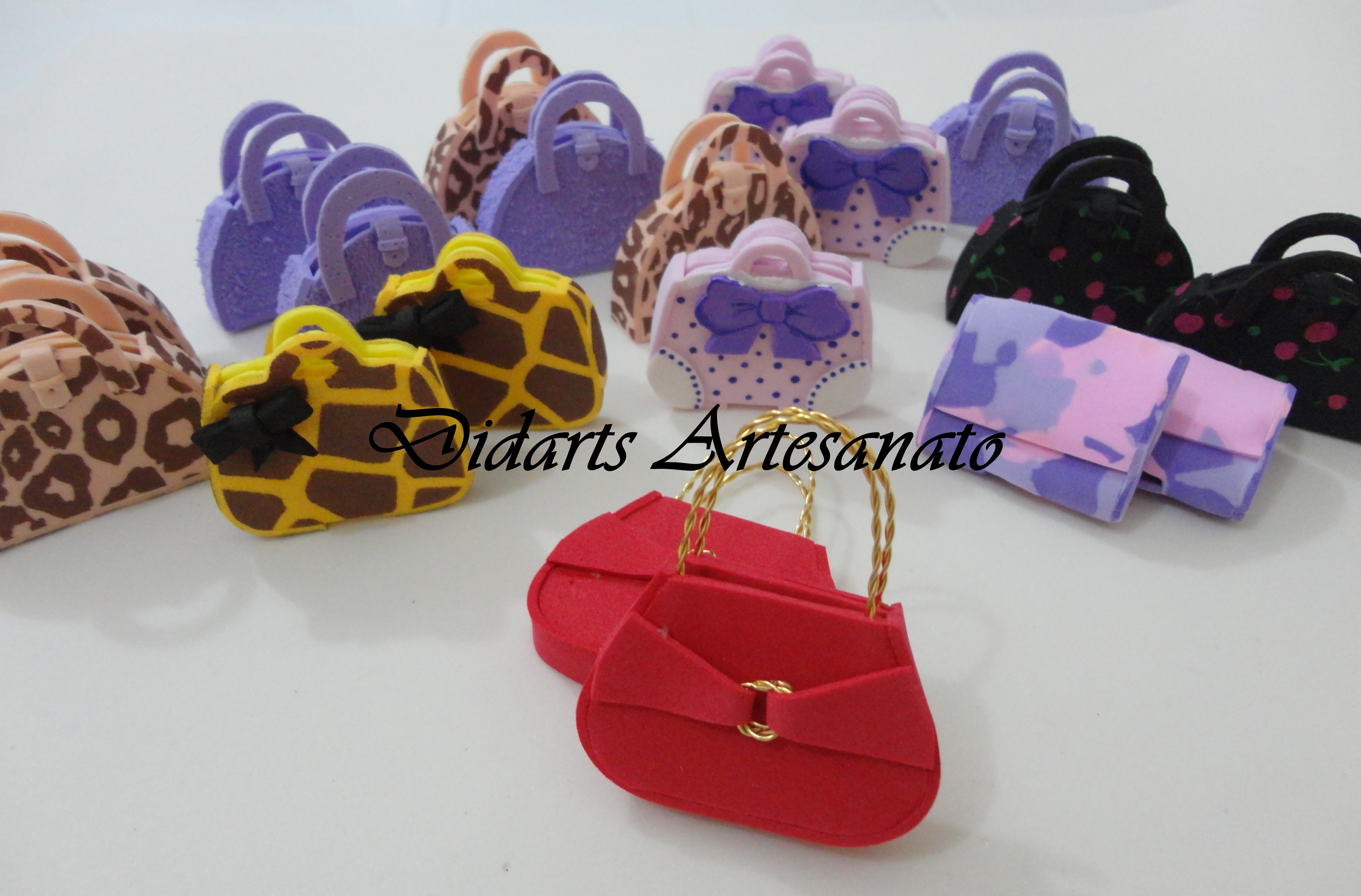 Bolsa de lembrancinha de casamento : Mini bolsa de eva didarts artesanato elo