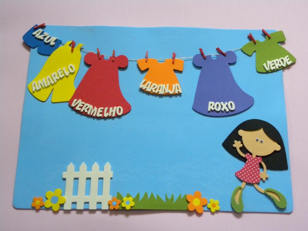 decoracao sala de leitura na escola:Painel de Cores – cortes para montar