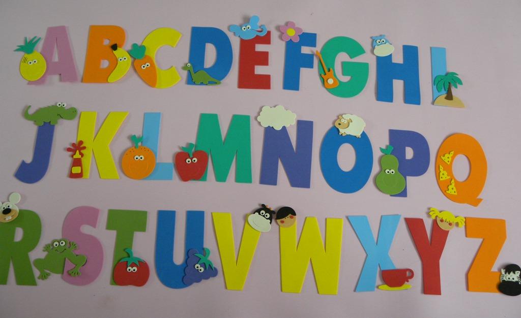 decoracao de sala aula educacao infantil : decoracao de sala aula educacao infantil:alfabeto-decorado-cortes-para-montar-decoracao-de-sala-de-aula