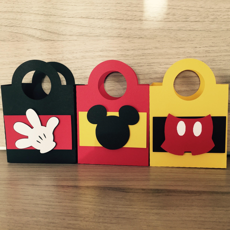 Bolsa De Festa Para O Dia : Sacolinha mickey rec scrap papelaria personalizada elo