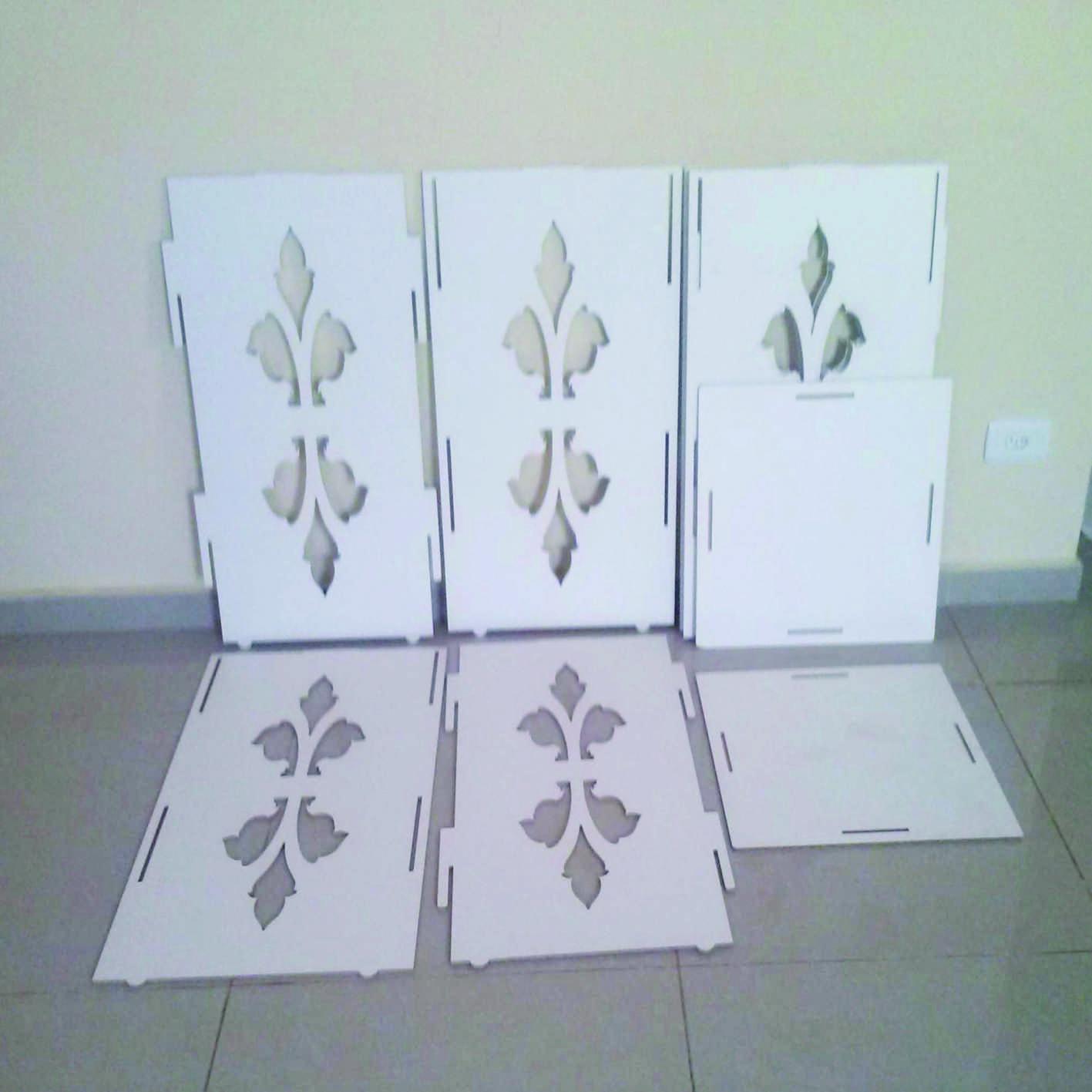 kit festa mesa provencal mdf branco bandeja mdf #736858 1417x1417
