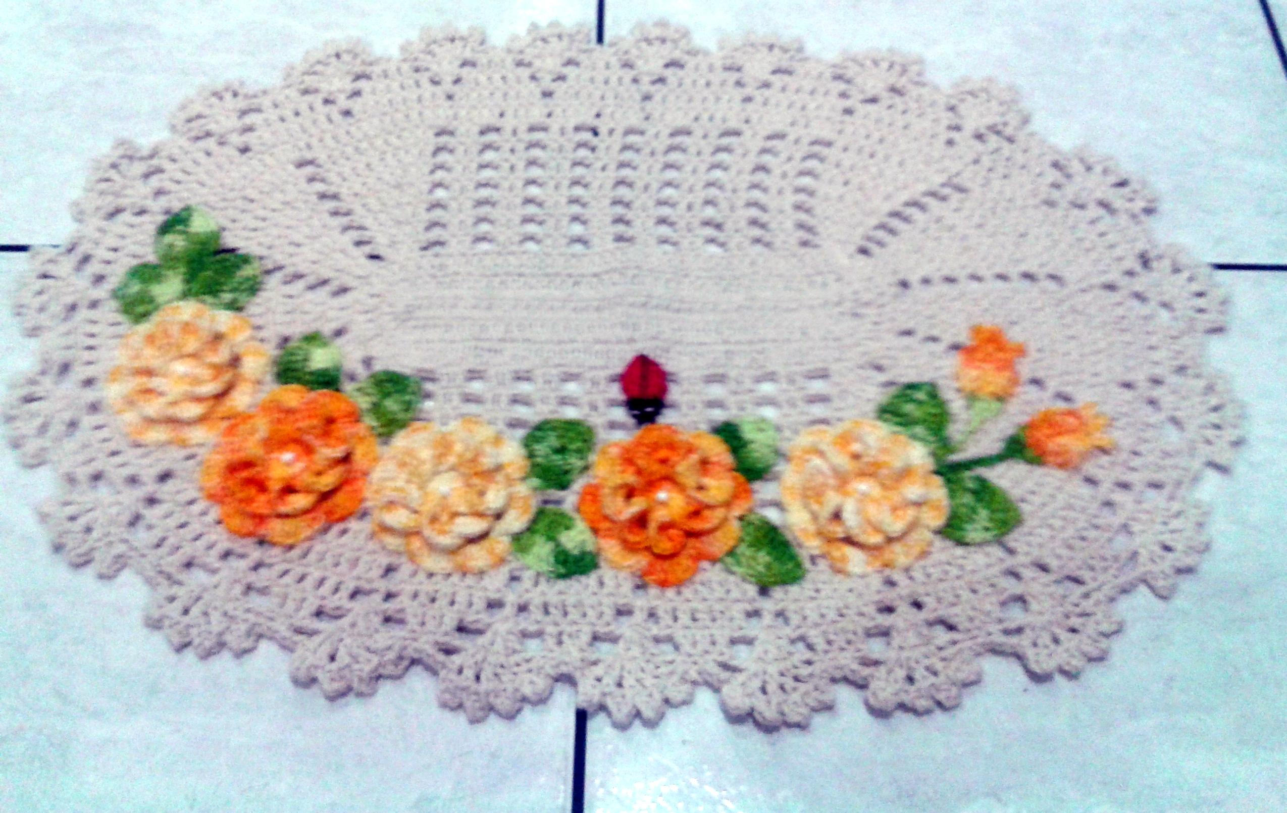 Pin Tapete Oval De Barbante Em Croche Decoracao Banheiro Porta on  #C0380B 2549 1610