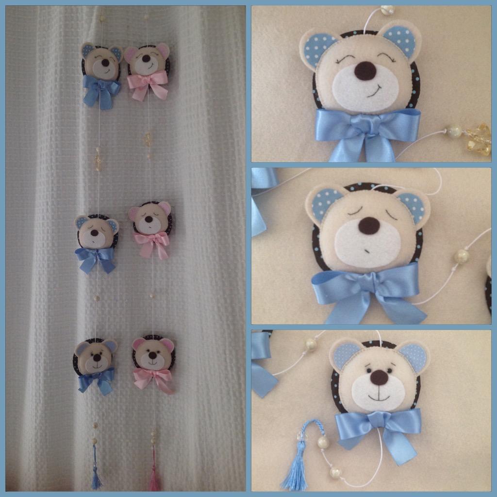Cortinas Para Quarto Passo A Passo ~ mobile cortina quarto bebe chaveiro ursinha mobile cortina quarto bebe