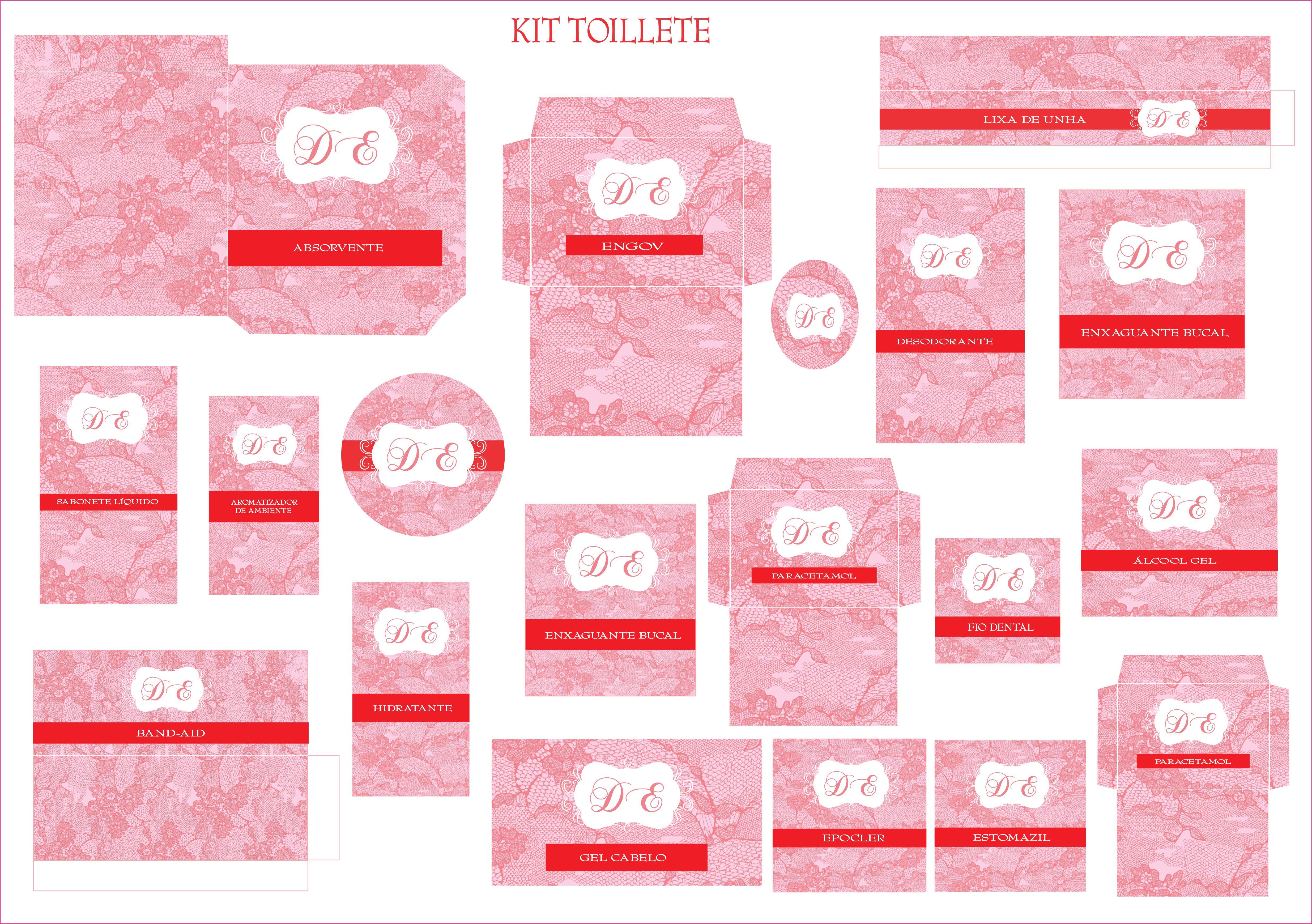 Kit Toilete Personalizado Ateliê Melana Elo7 #BC0F17 4940 3479