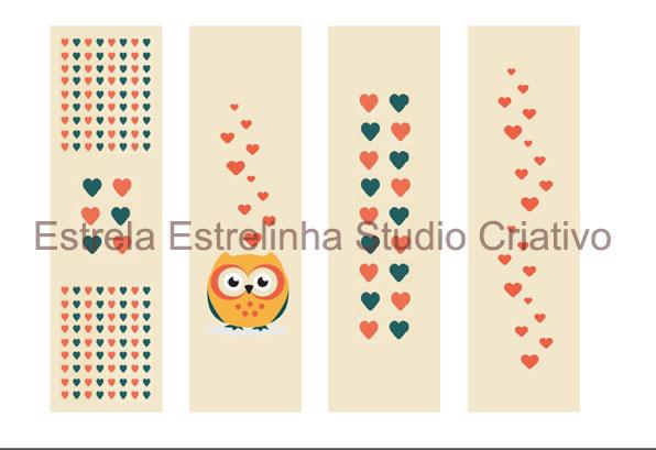 Corujas & livros II - Marcador de página | Estrela Estrelinha ...