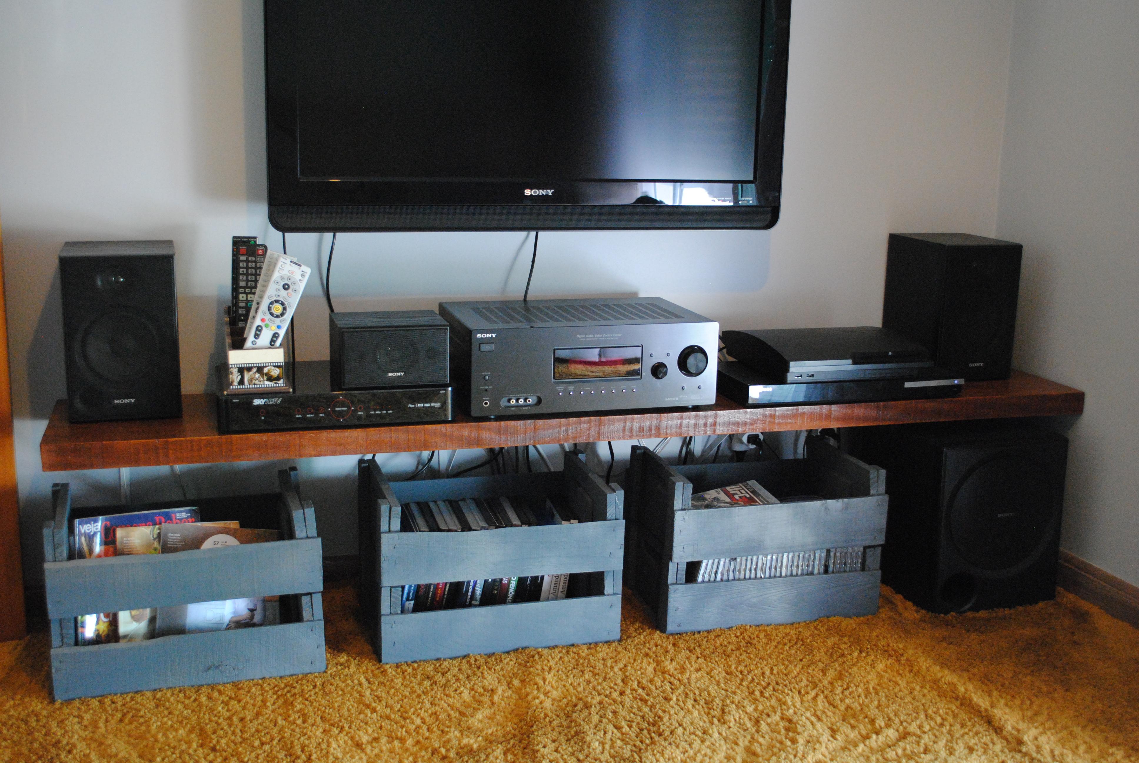 rack para home theater coisas de amanda elo7. Black Bedroom Furniture Sets. Home Design Ideas
