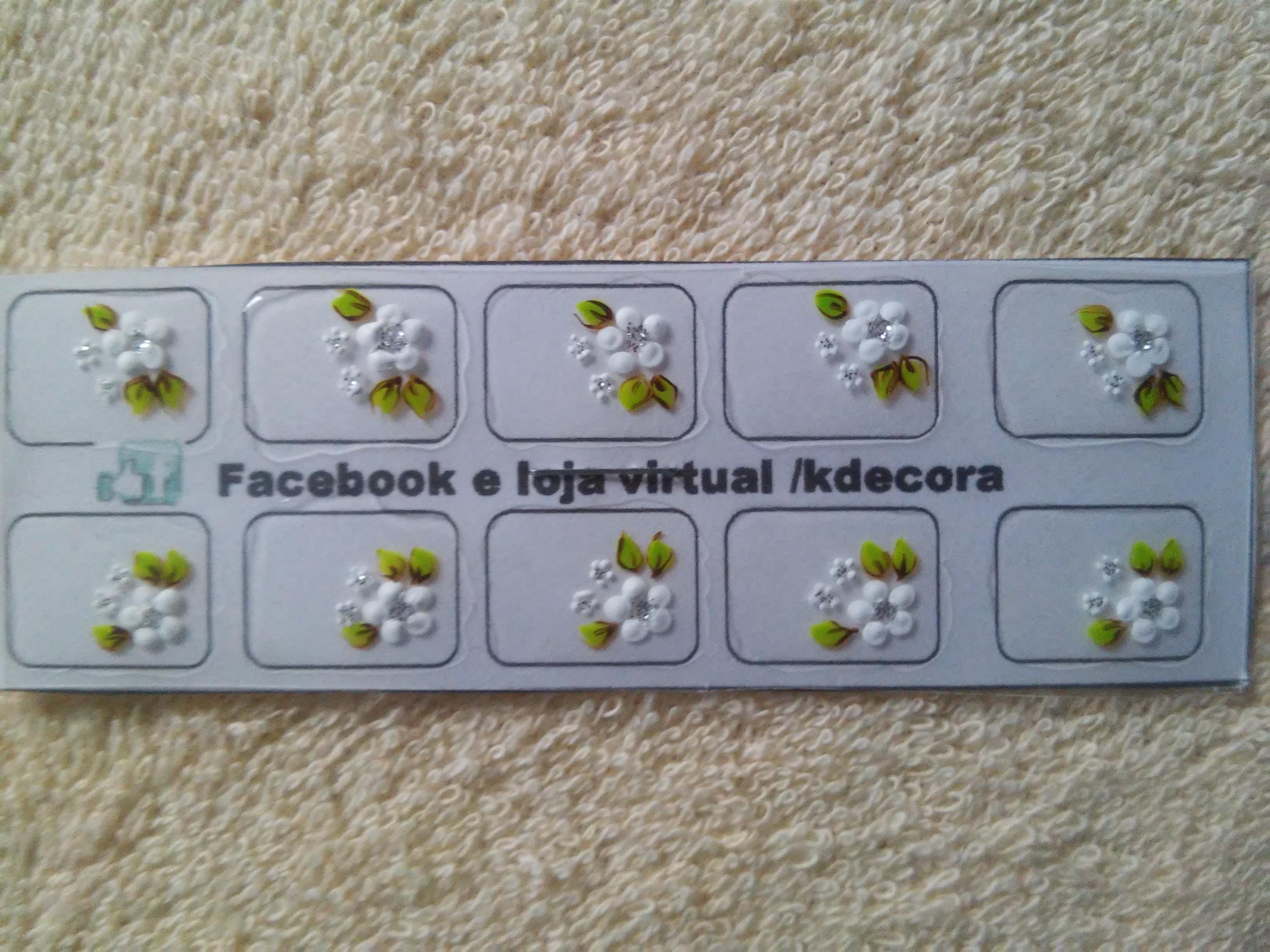 decorar unha branca:flor branca flores brancas unhas decoradas adesivos artesanais