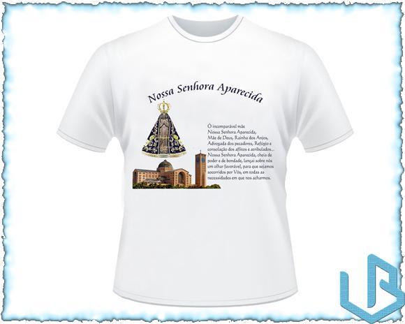 Nossa Senhora Aparecida Para Camisa: Camiseta Nossa Senhora Aparecida 1