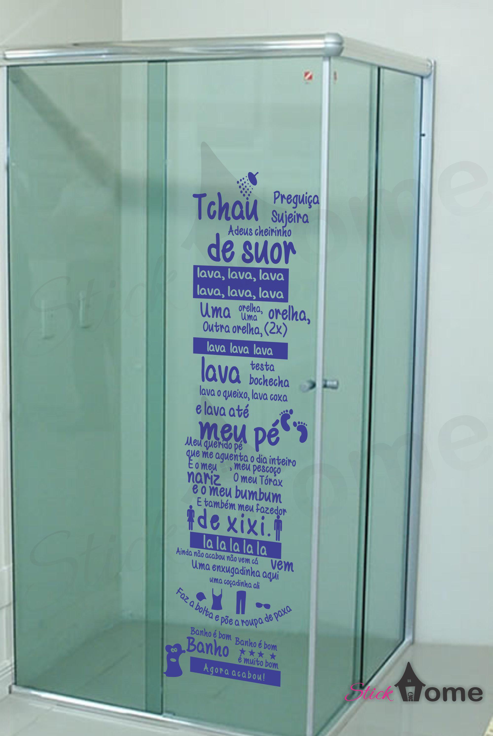 Armario Pequeno Para Banheiro ~ Adesivo de box banheiro musica ratinho Stick Home Adesivos Decorativos Elo7