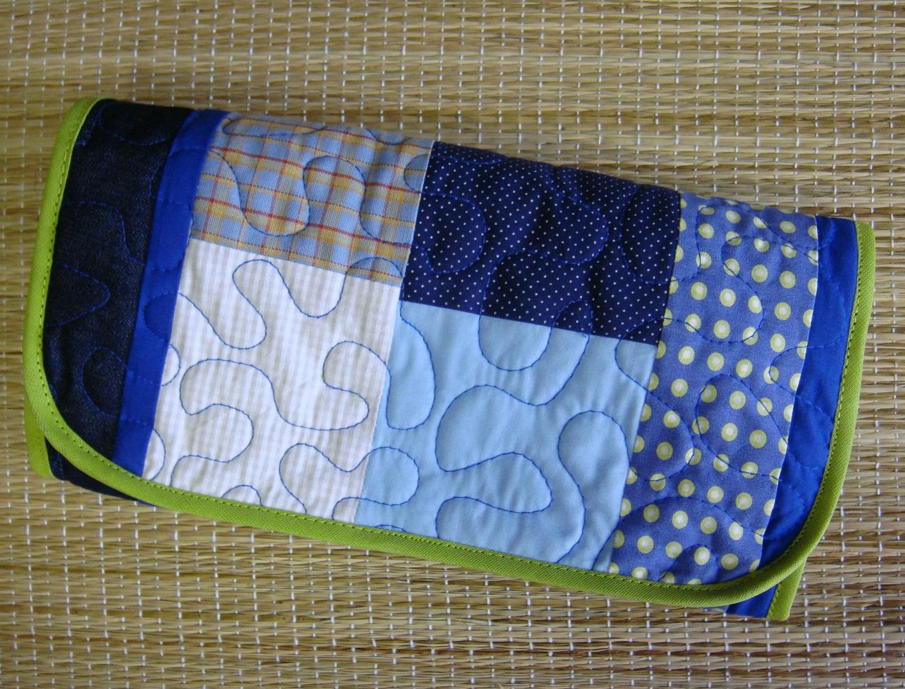 Bolsa De Mao Em Inglês : N?cessaire patchwork em fafa arte elo