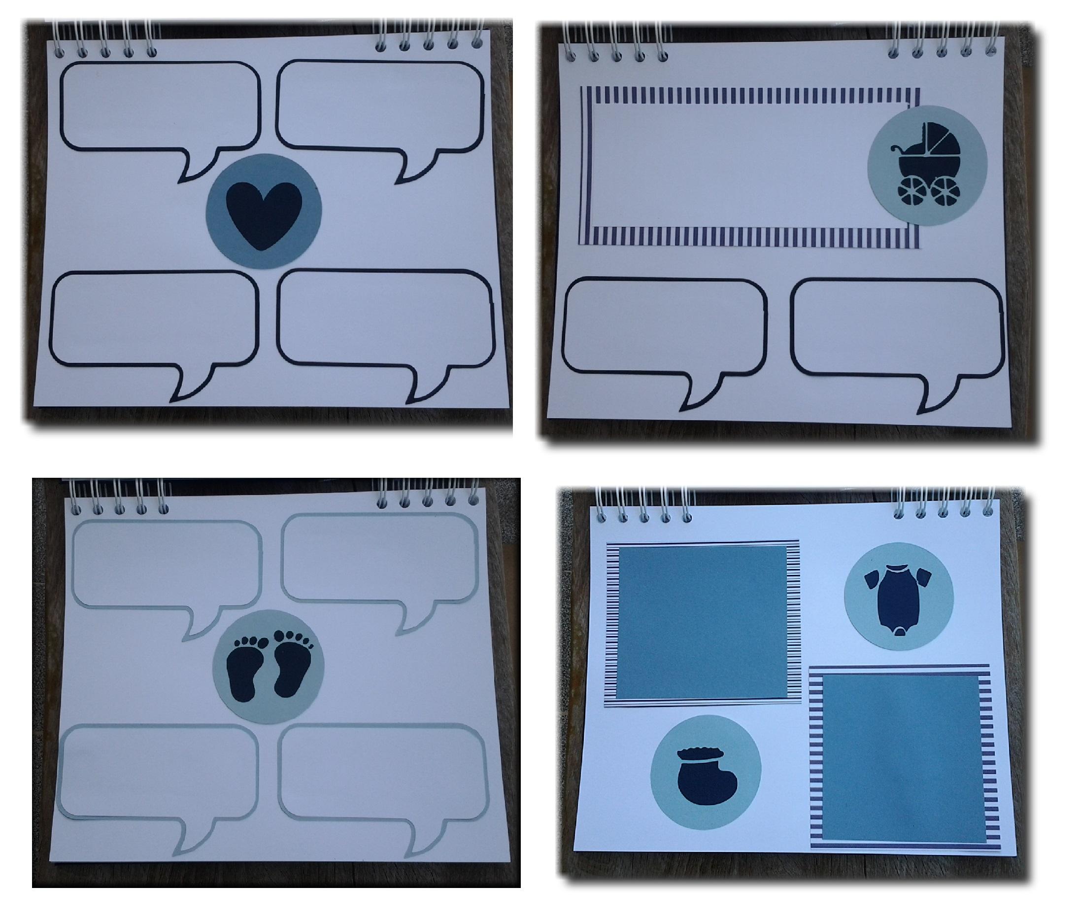 Caderno com p ginas decoradas em scrap amor no papel elo7 for Paginas decoradas