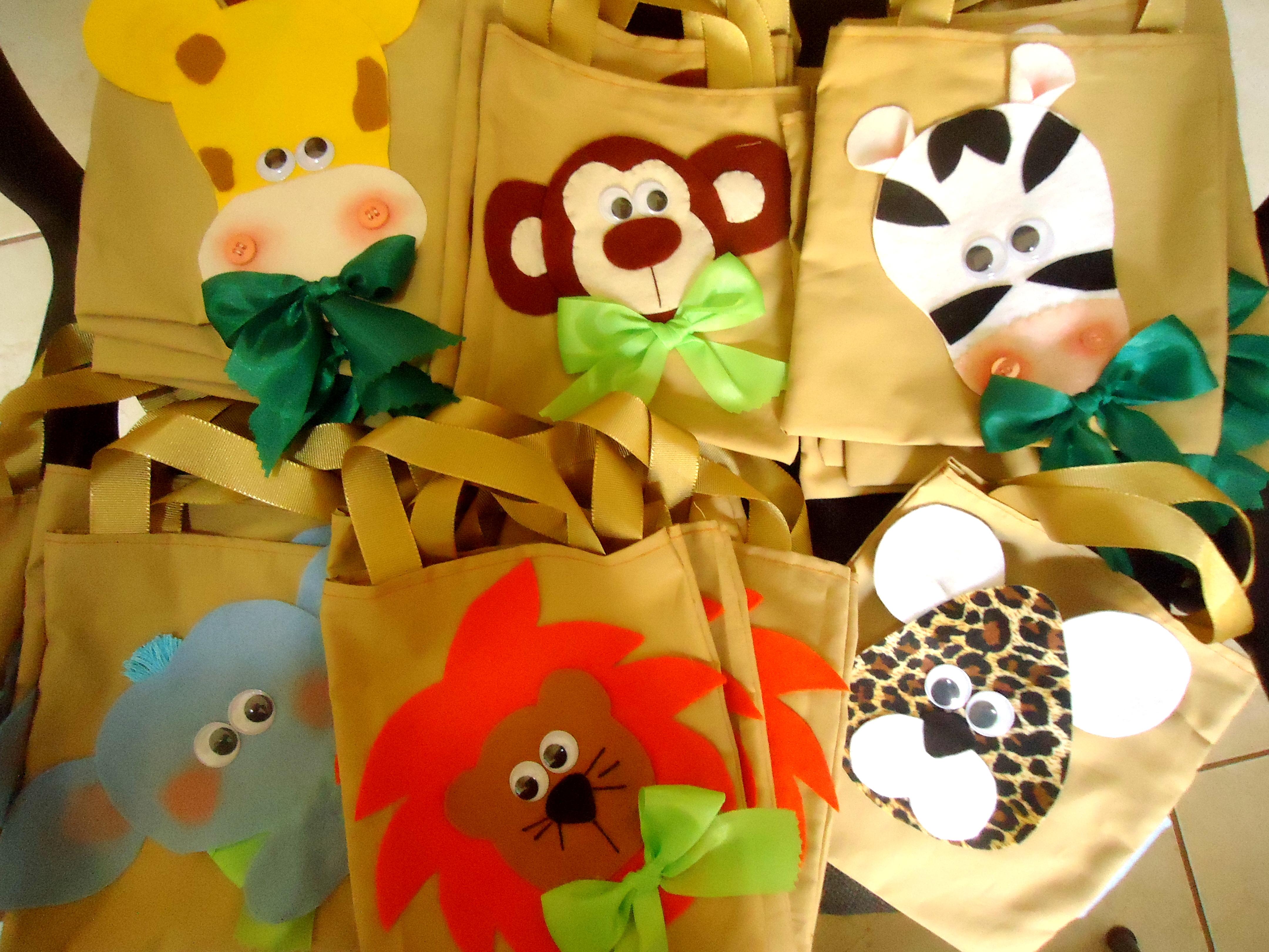 Bolsa De Festa Saara : Festa safari lana lembrancinhas elo