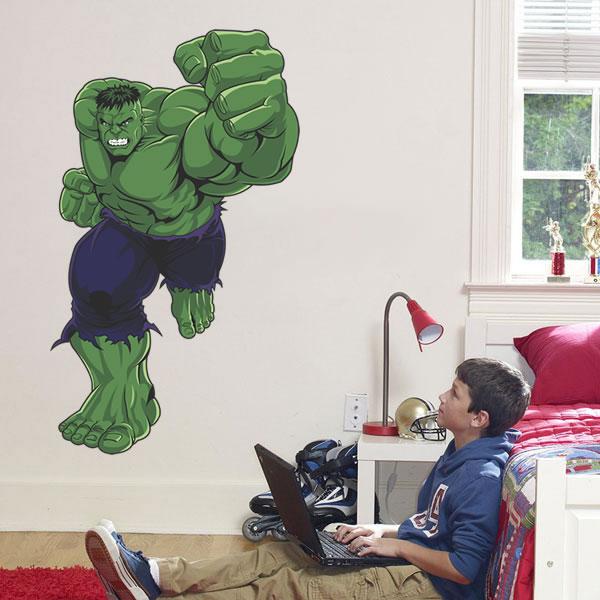 Adesivo de Parede Infantil Incrível Hulk Lar Adesivos Elo7 ~ Papel De Parede Para Quarto Do Hulk