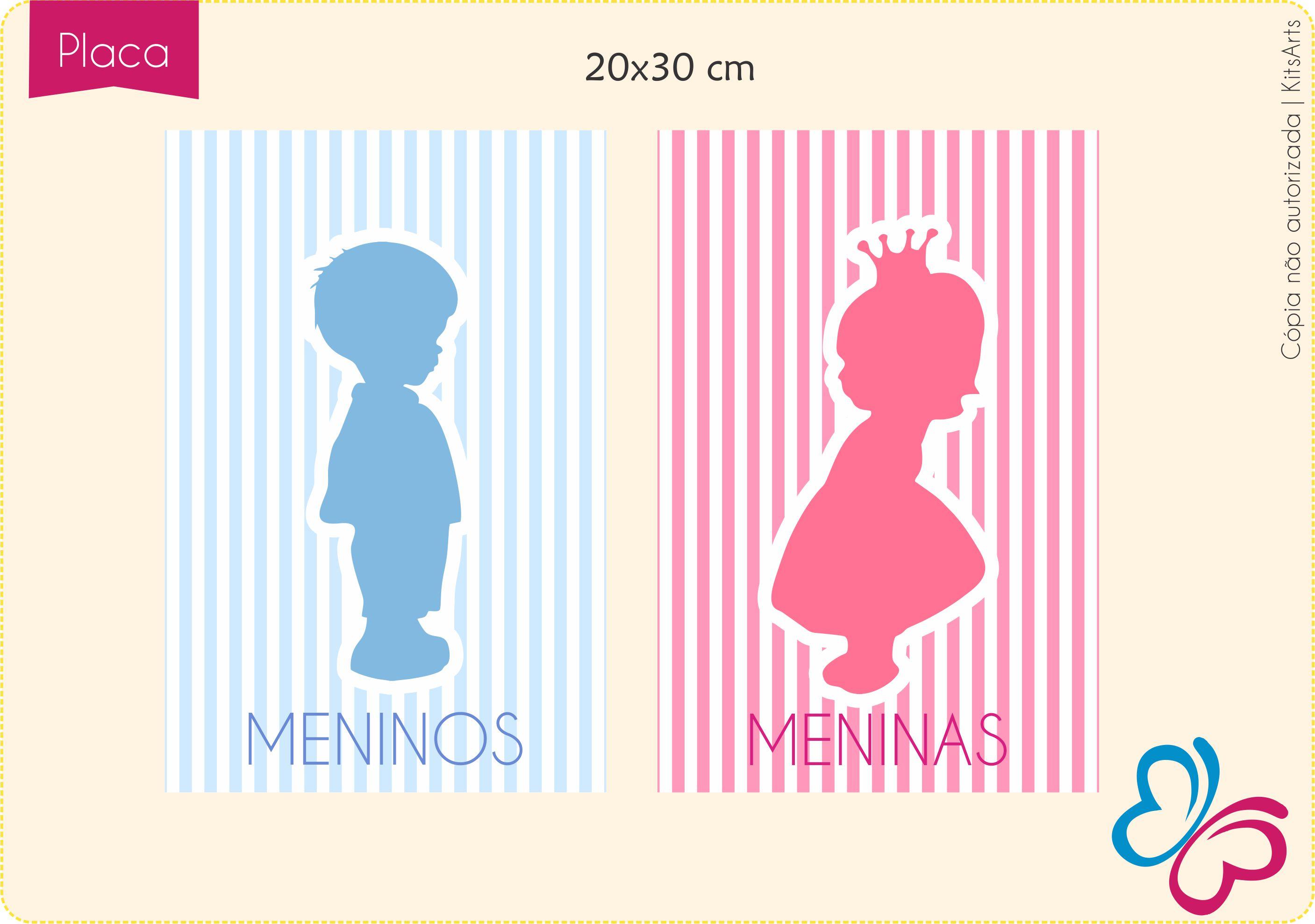 Arte Placa p/Banheiro  Princesa/Principe KitsArts Elo7 #C80346 2814 1977