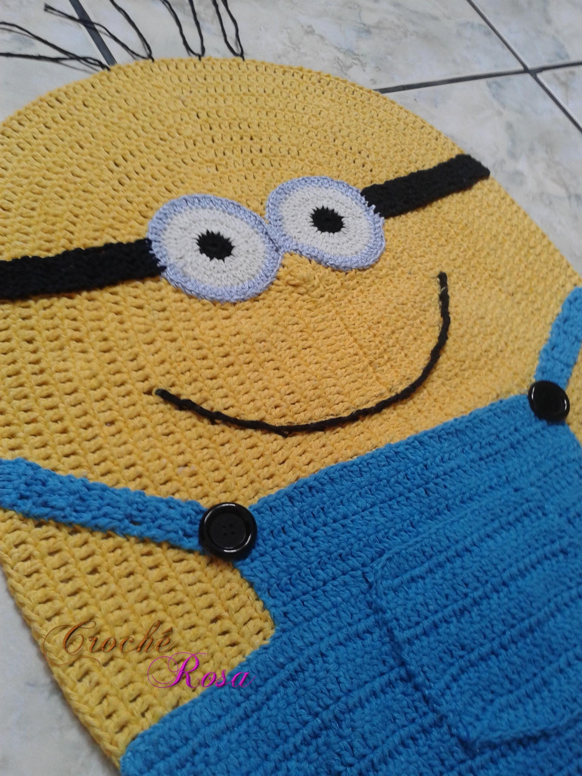 Tapete Minions De Croche : tapete infantil minions em croche amarelo tapete infantil minions em