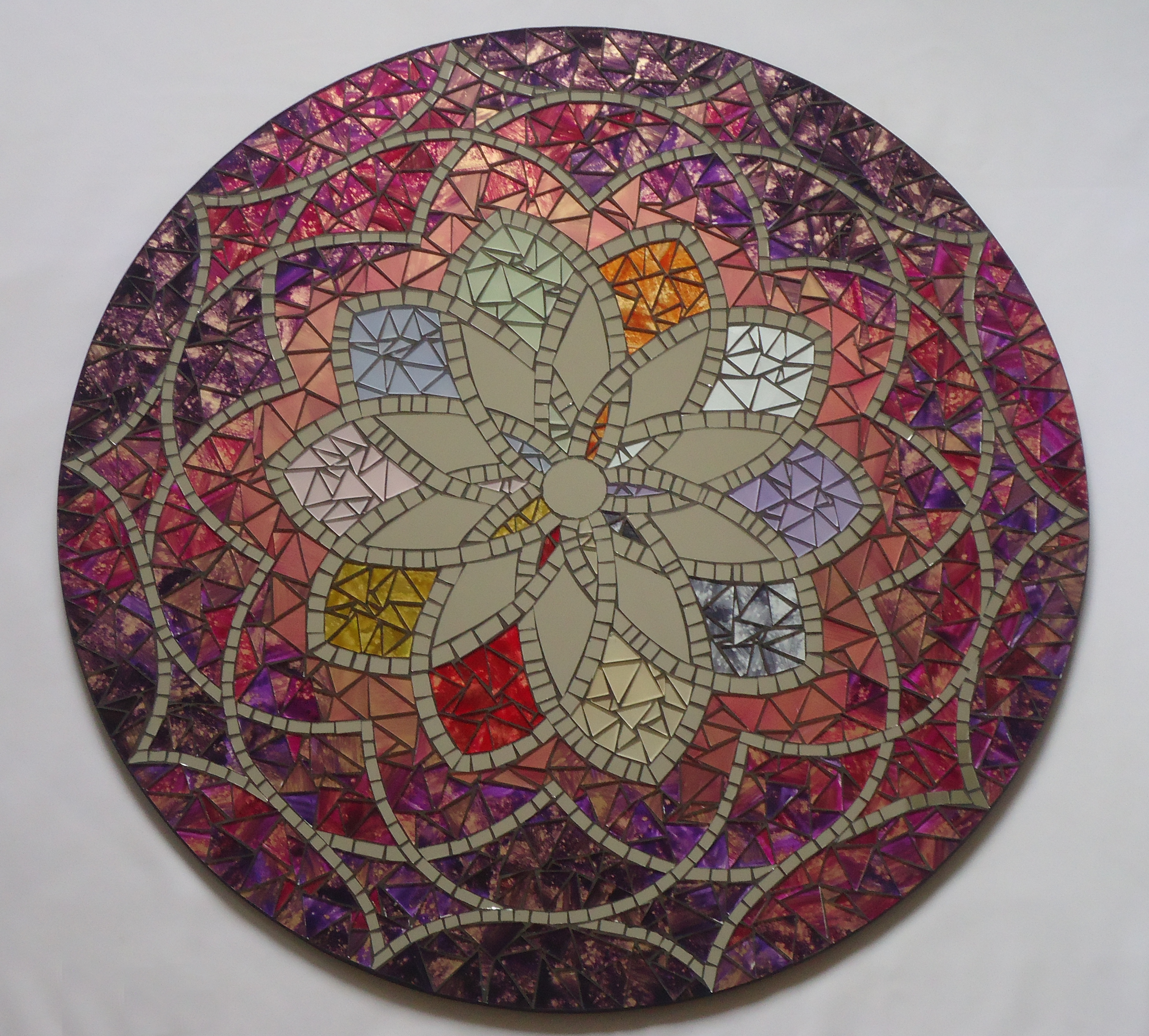 Mandala 70cm cl o mosaicos elo7 for Cuadros mandalas feng shui decoracion mandalas