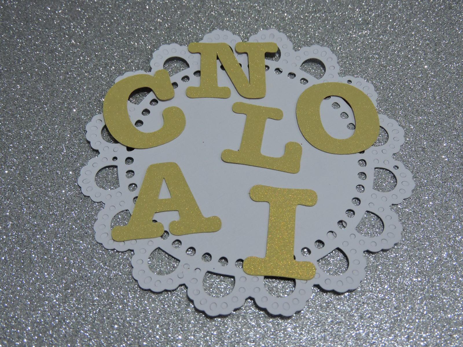 Letra dourada papel scrap 2 5 cm scrap recortes elo7 - Letras decoradas scrap ...