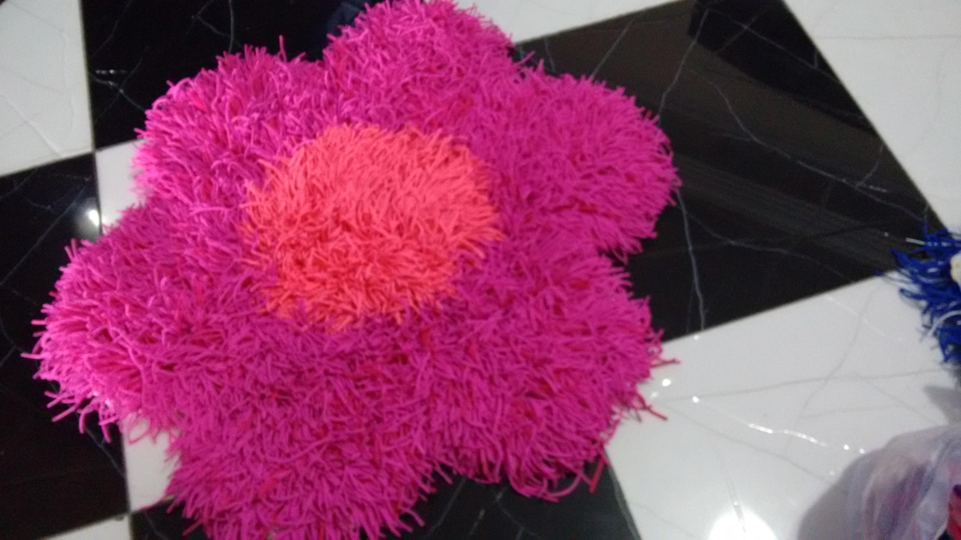 Tapete amarradinho flor pink iara augusto elo7 for Tapete pink