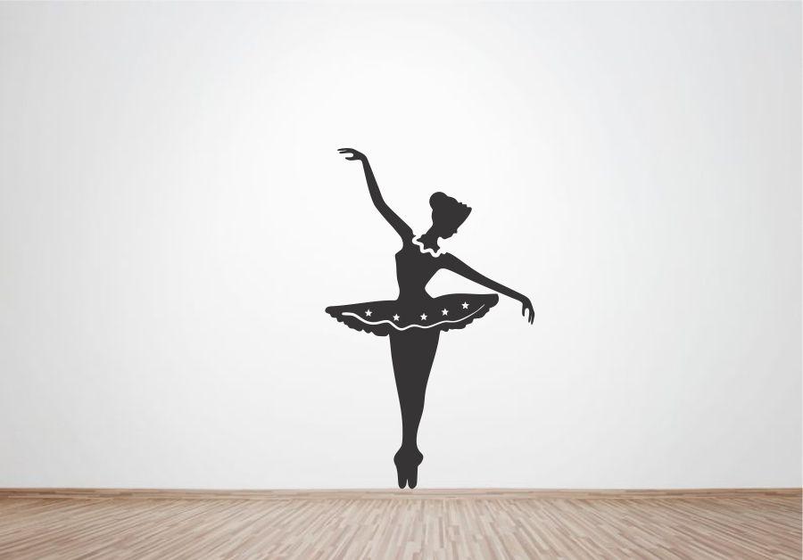 Adesivo Estrela Kalunga ~ Adesivo de Parede Bailarina Ballet Wegloo Elo7