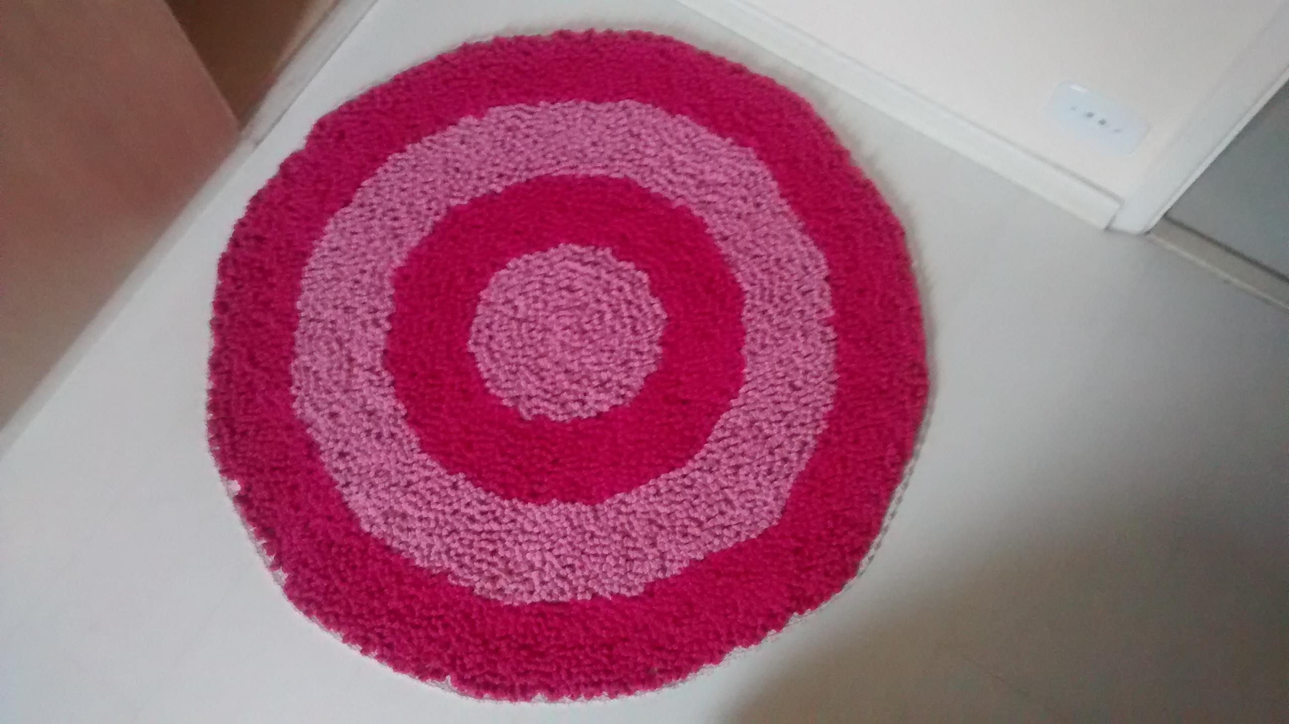 Tapete Redondo Fofinho Rosa 1m Criativo e Caprichado Elo7 ~ Tapete Para Quarto De Bebe Rosa