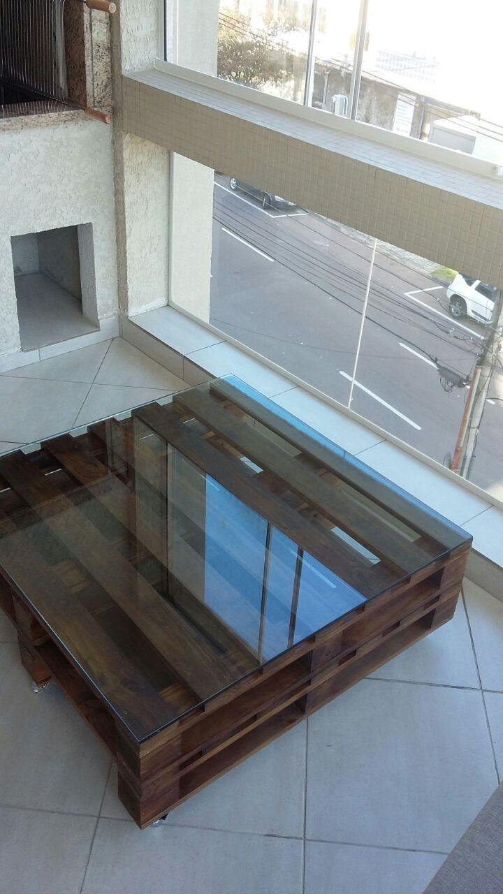 Mesa de centro de pallet 1m x 1m carllos cria es elo7 - Mesa centro original ...