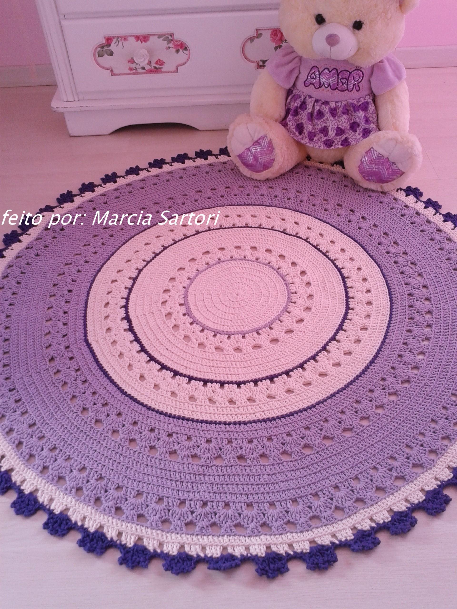 Tapete tons lilas Marcia Sartori Elo7 ~ Tapete Para Quarto De Bebe Lilas