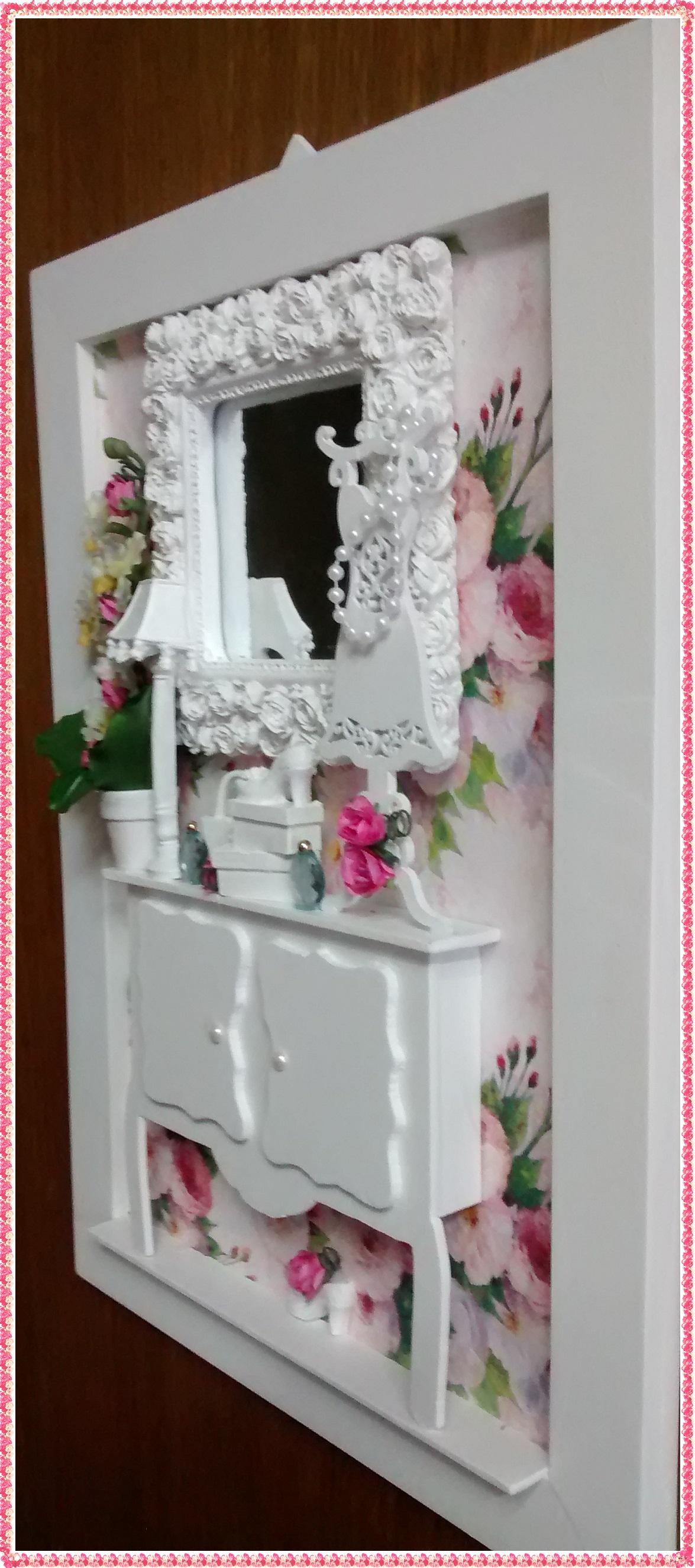Aparador Para Fotos ~ Quadro Aparador Feminino Roses Chic Atelier by Dreams Elo7