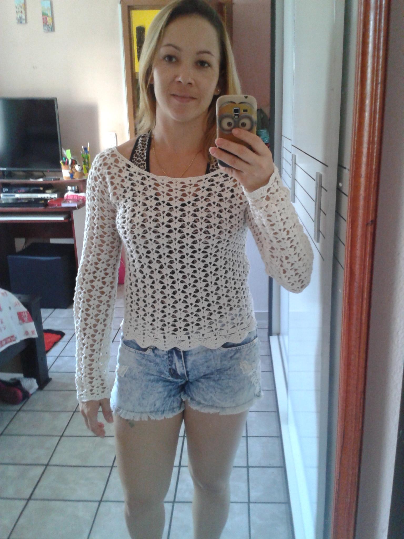 blusa de croche manga longa monique croch s elo7