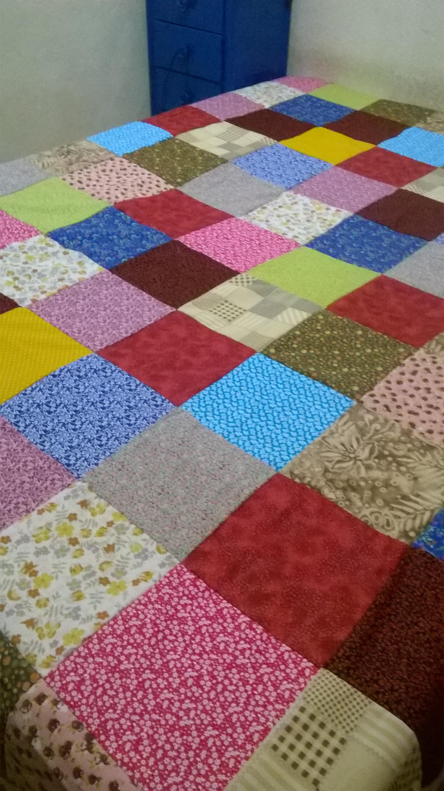 Colcha de retalhos patchwork du 39 artes produtos artesanais elo7 - Colcha patchwork ...