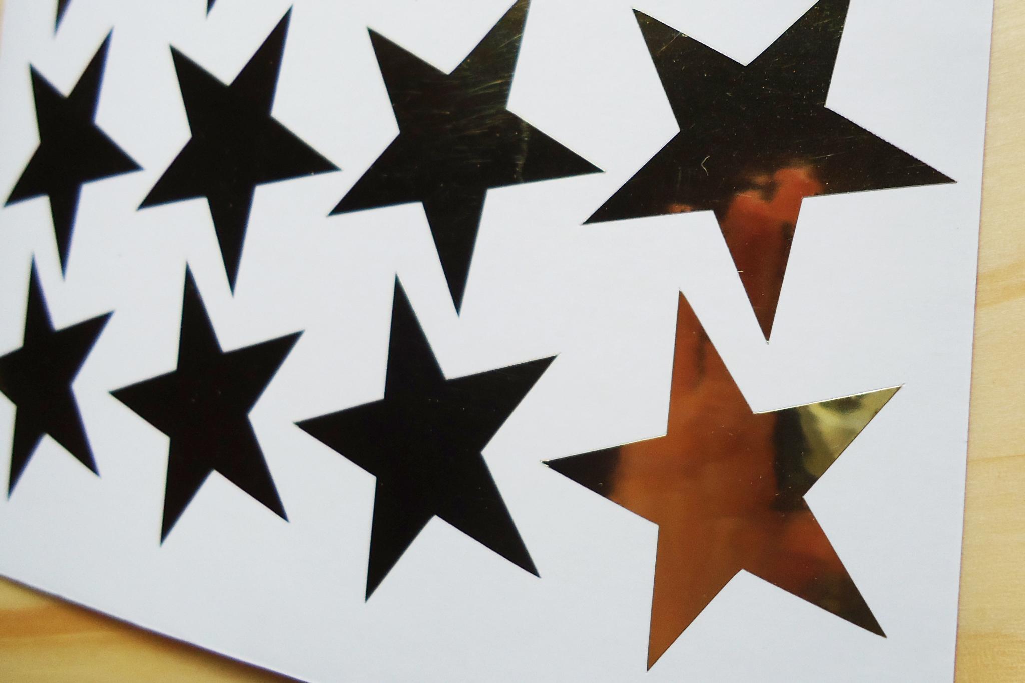Armario Joyeria ~ Adesivo estrela dourada ou prata Bamboo bazar Elo7