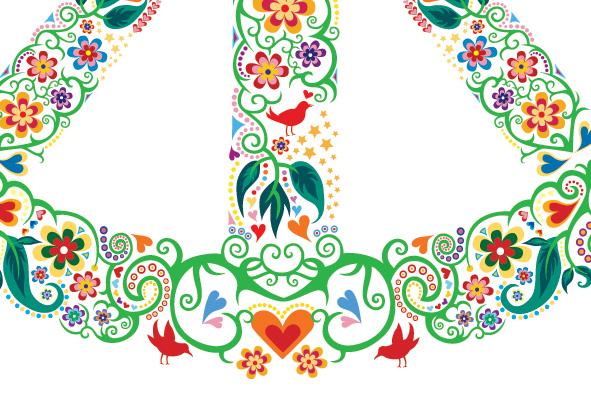 Adesivo Símbolo Da Paz Branco 20 Cm No Elo7: Adesivo Símbolo Da Paz Fundo Branco