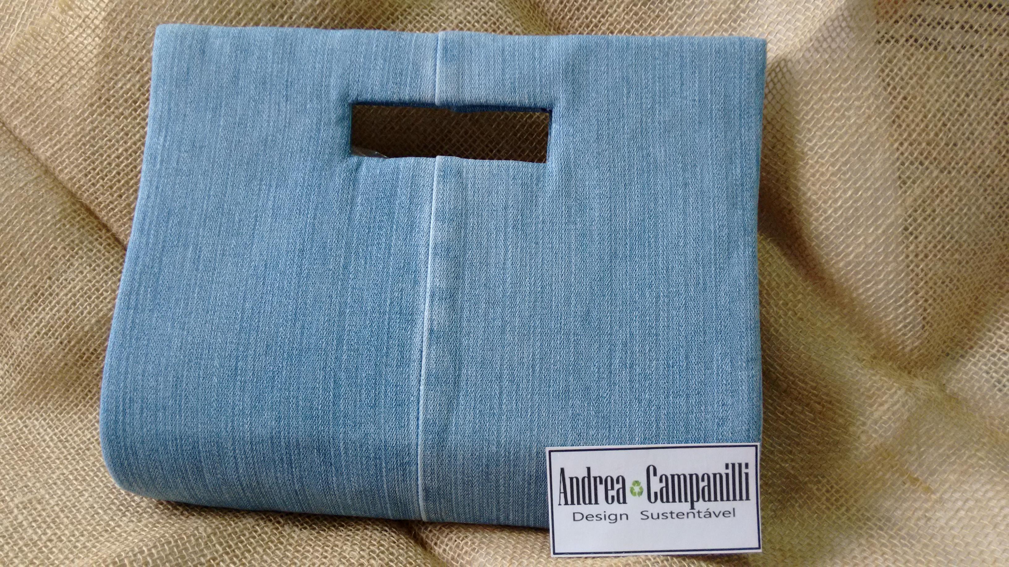 Bolsa De Festa De Caixa De Leite Passo A Passo : Bolsa eco jeans andrea campanilli design elo