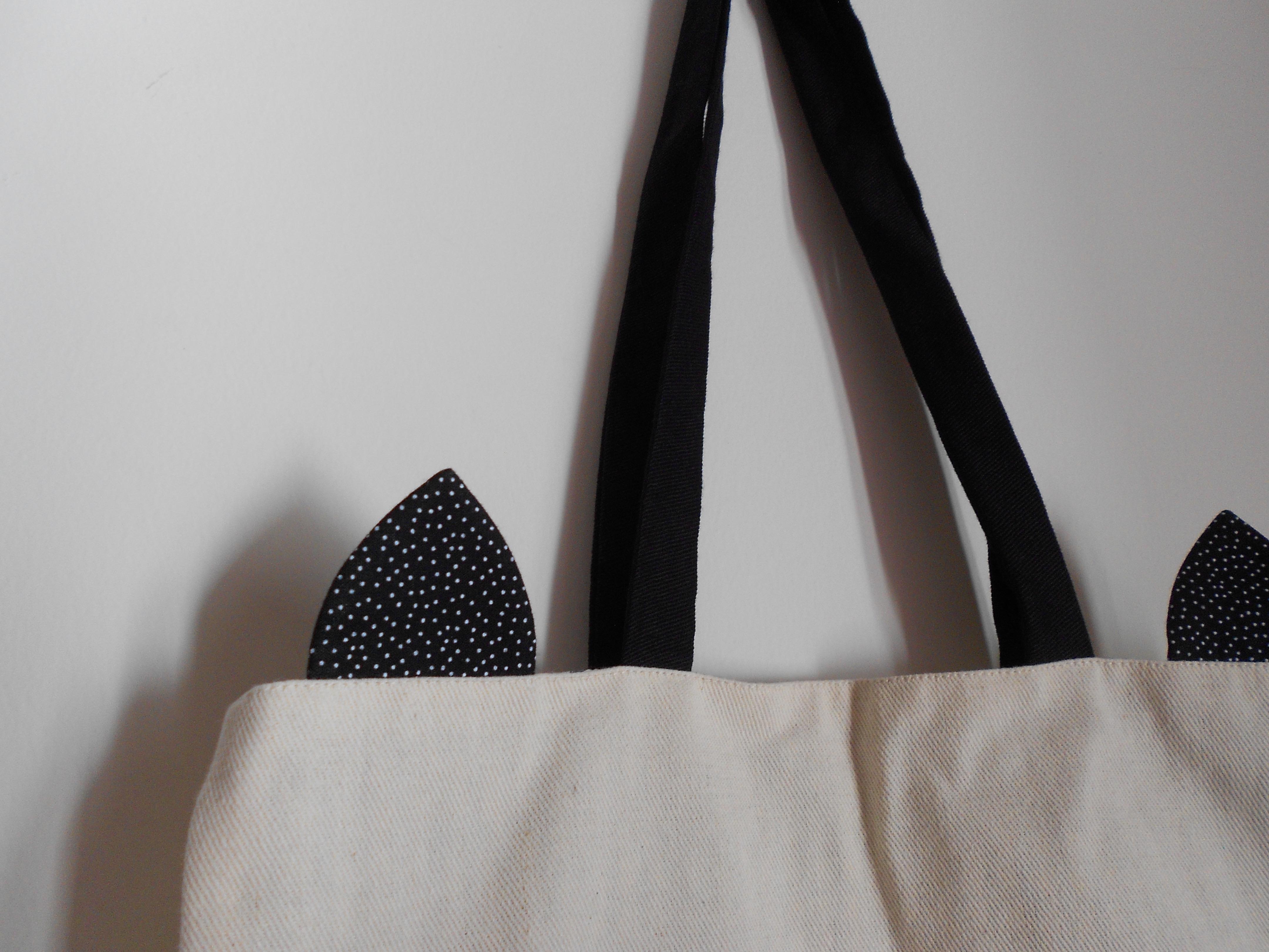 Bolsa De Tecido Cru : Tote bag gato desenhada algod?o cru o jardim elo