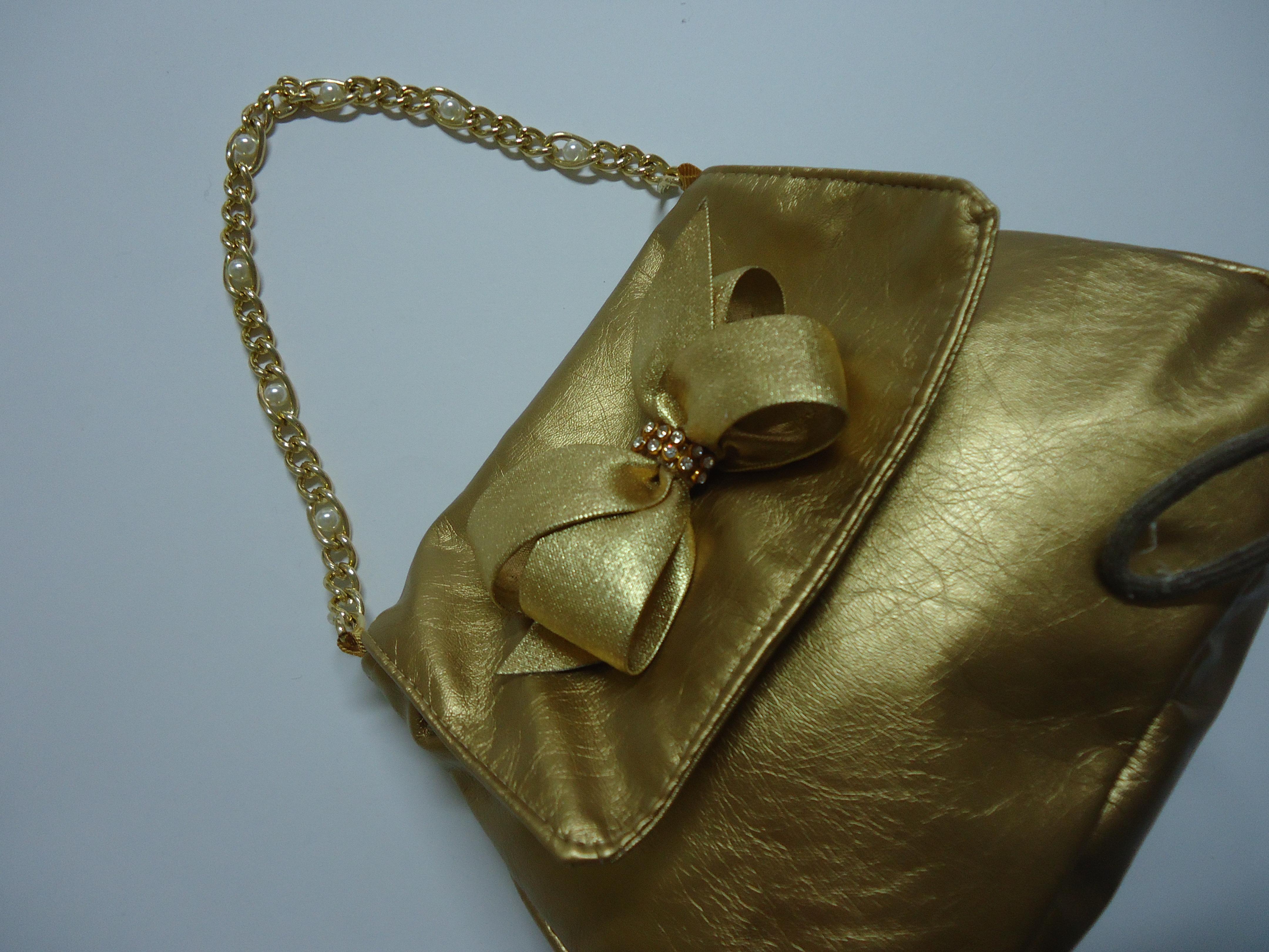 Bolsa Dourada Infantil : Bolsa infantil dourada gi menina chic acess?rios elo