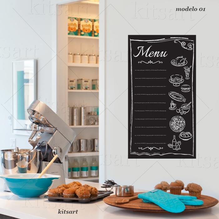 Artesanato Em Florianopolis Sc ~ Adesivo de Cozinha Lousa Kitsart Elo7