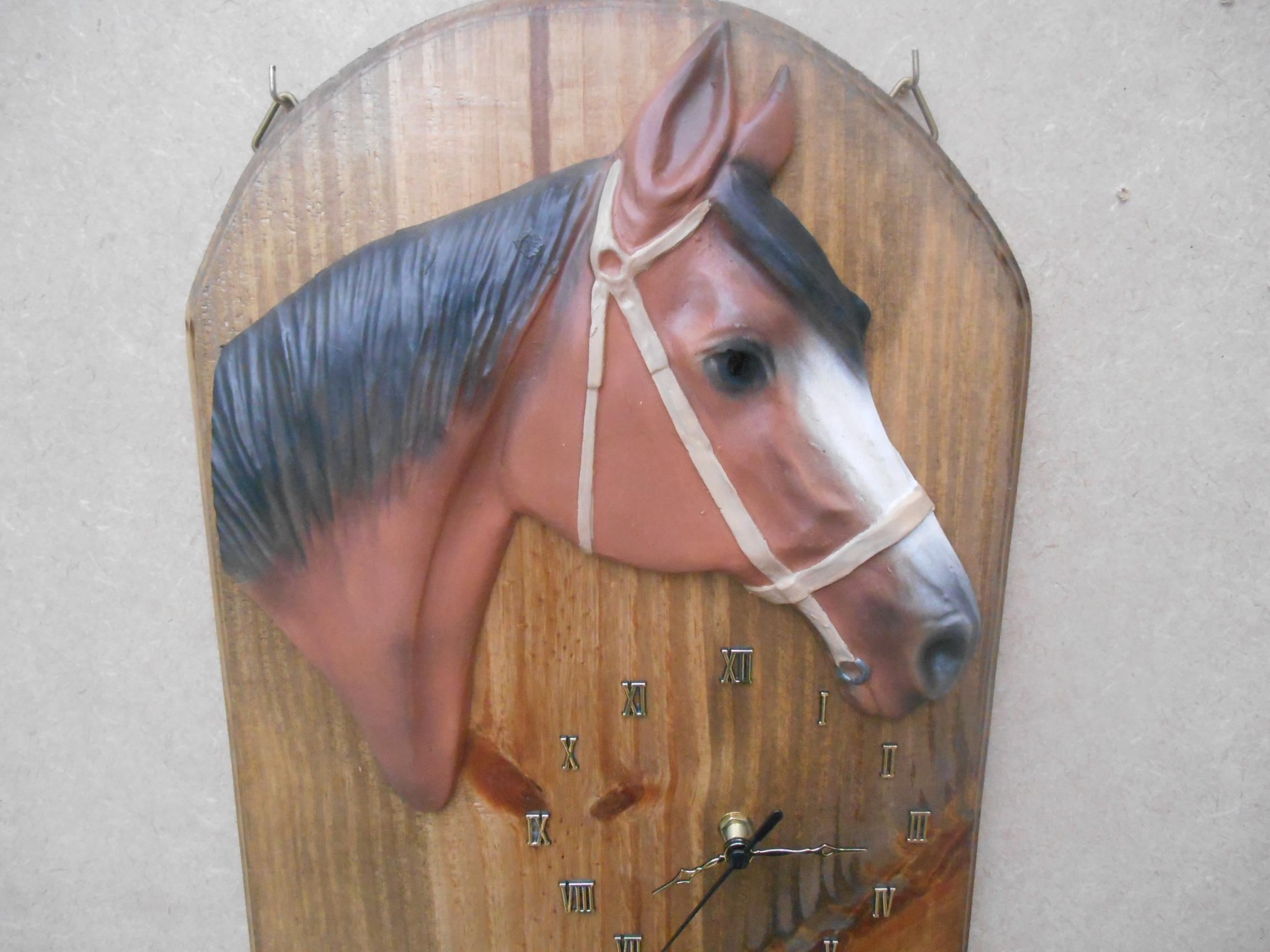 Artesanato Lider Sao Paulo ~ Relógio de Parede Cavalo Alegrete Artes Elo7