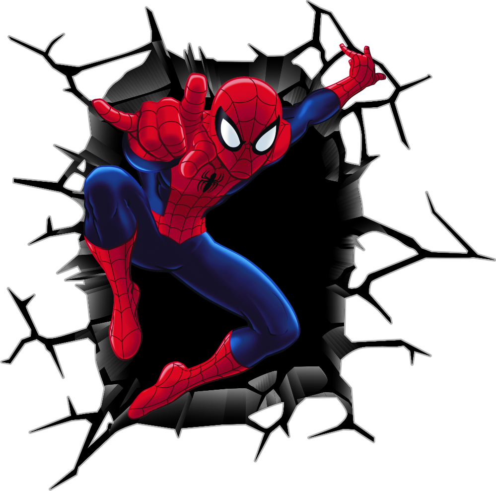 Aparador Redondo Para Sala ~ Adesivo de parede homem aranha 132 ADESIVOS 123 Elo7