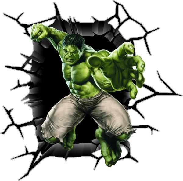 Adesivo de parede HULK AVENGER 100 ADESIVOS 123 Elo7 ~ Papel De Parede Para Quarto Do Hulk